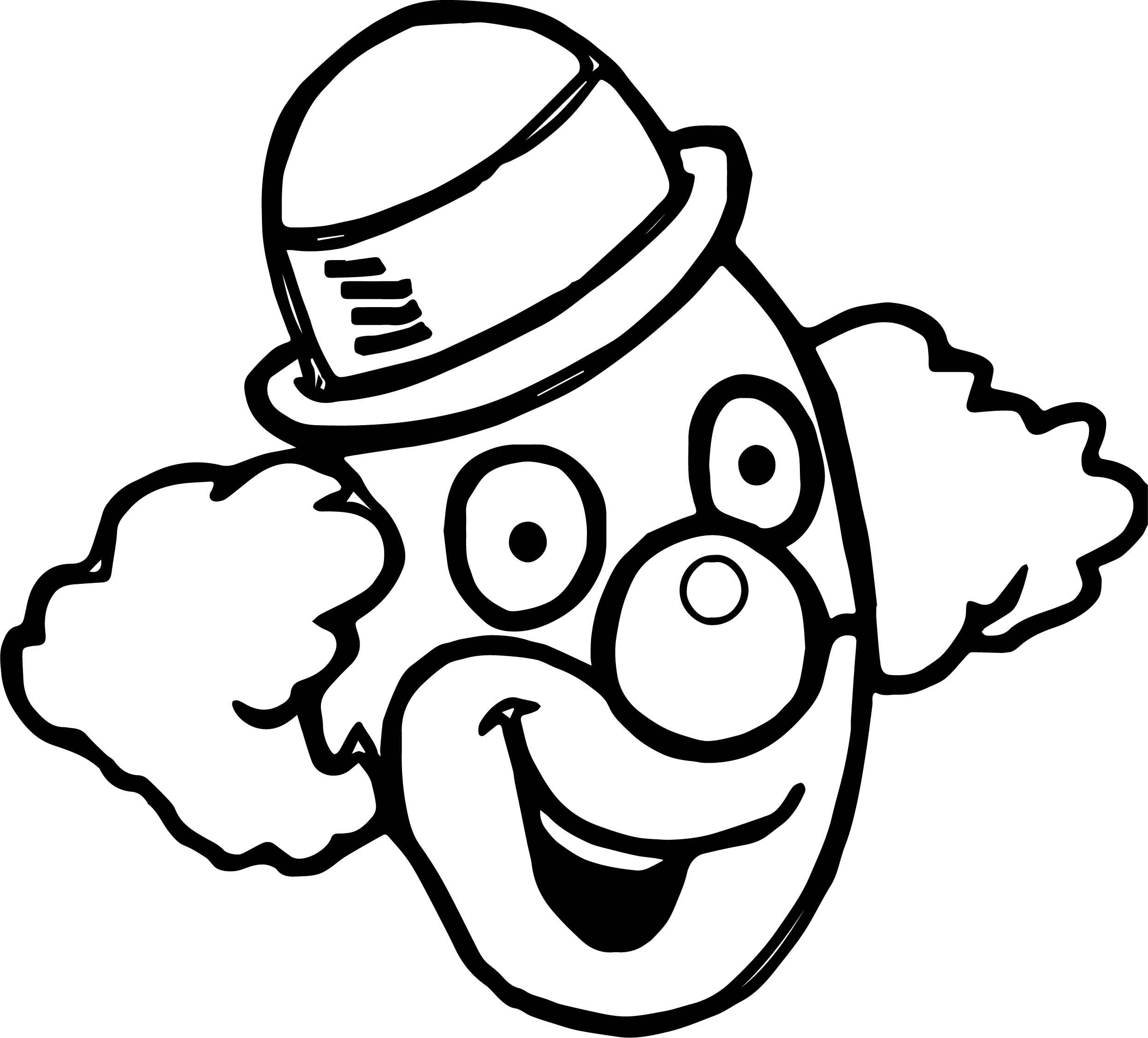 Coloring Pages Of Clowns Faces