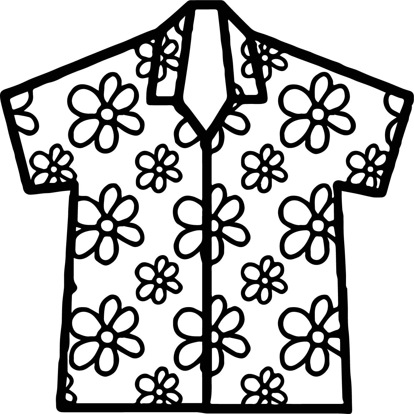 Hawaiian Shirt Clipart Hawaiian Shirt Pattern Clipart