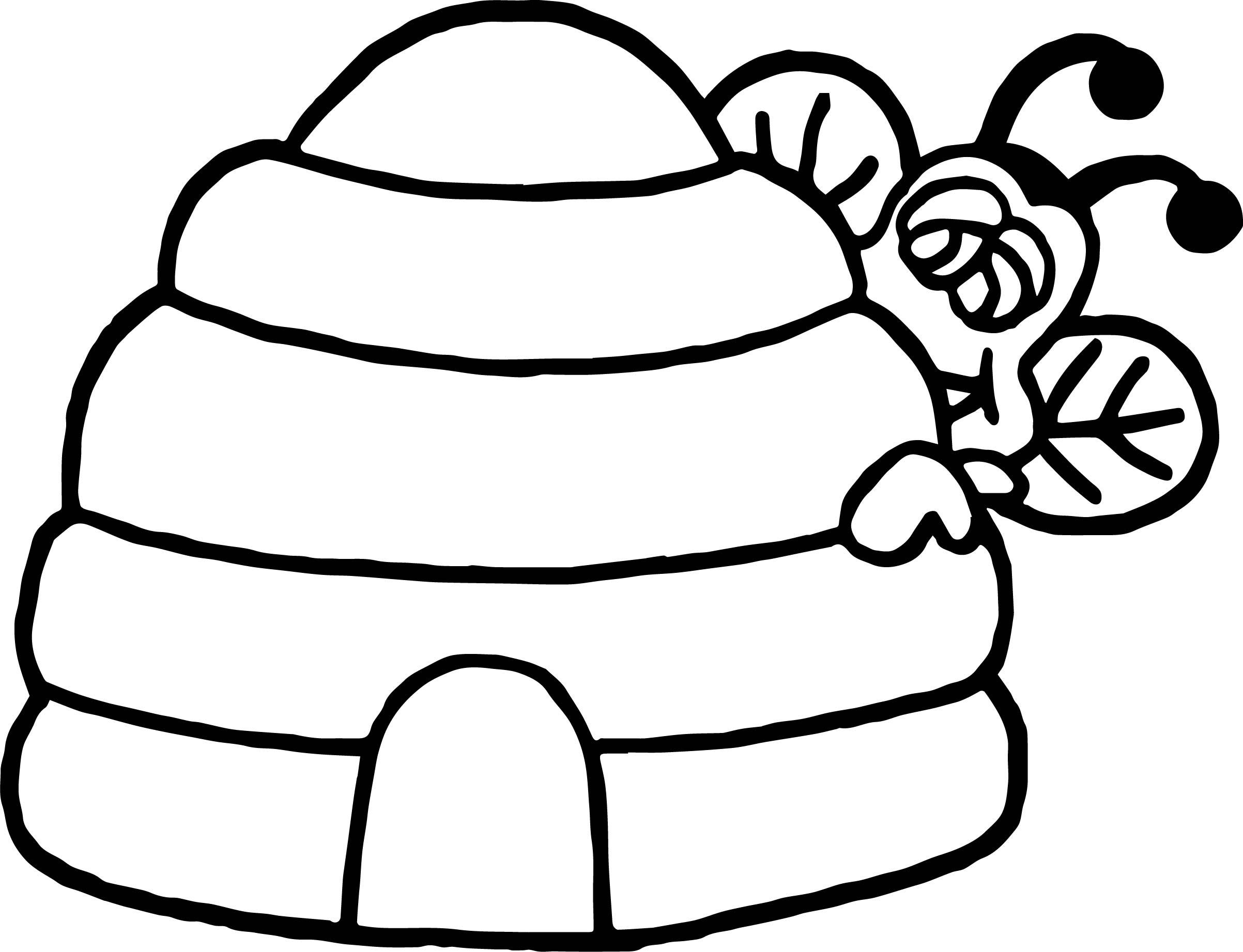 Hide Bee Coloring Page