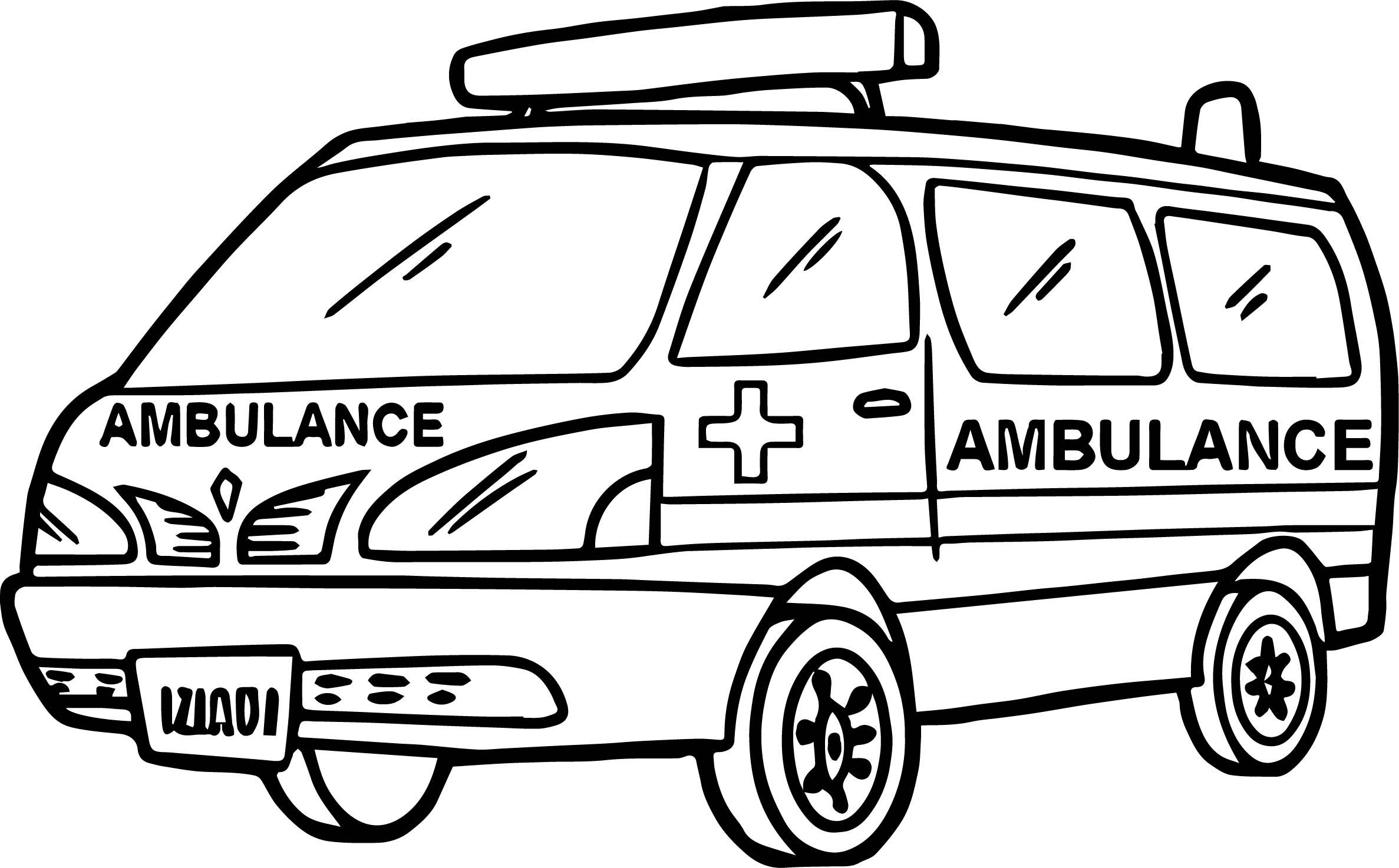 Max Ambulance Coloring Page