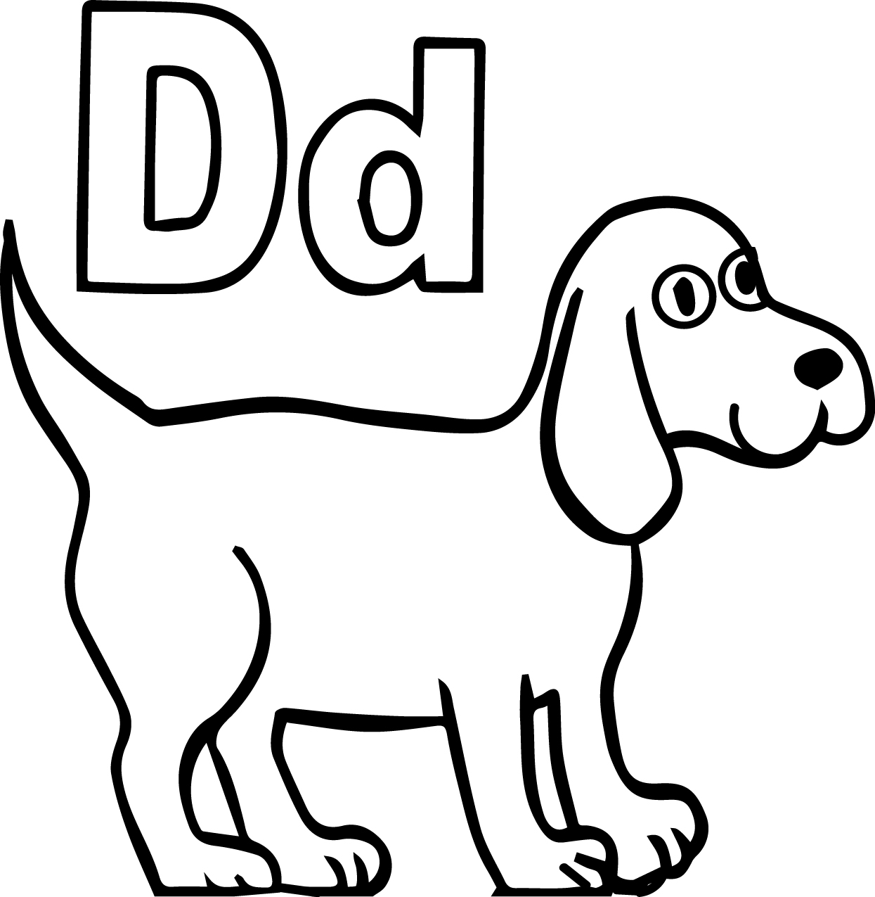 Preschool Dog Coloring Pages