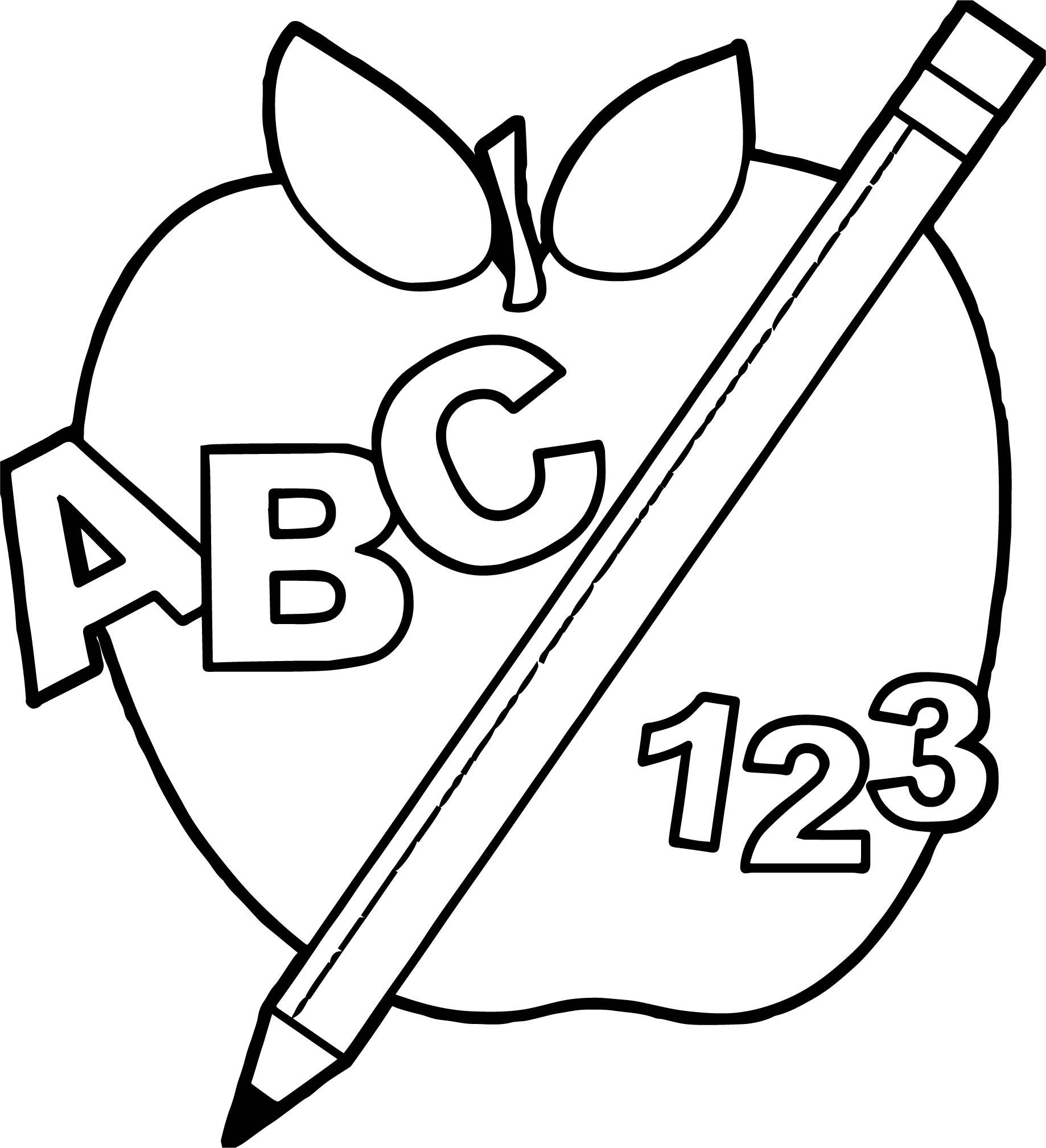 School Back To School Abc Apple And Pencil Abc Teach