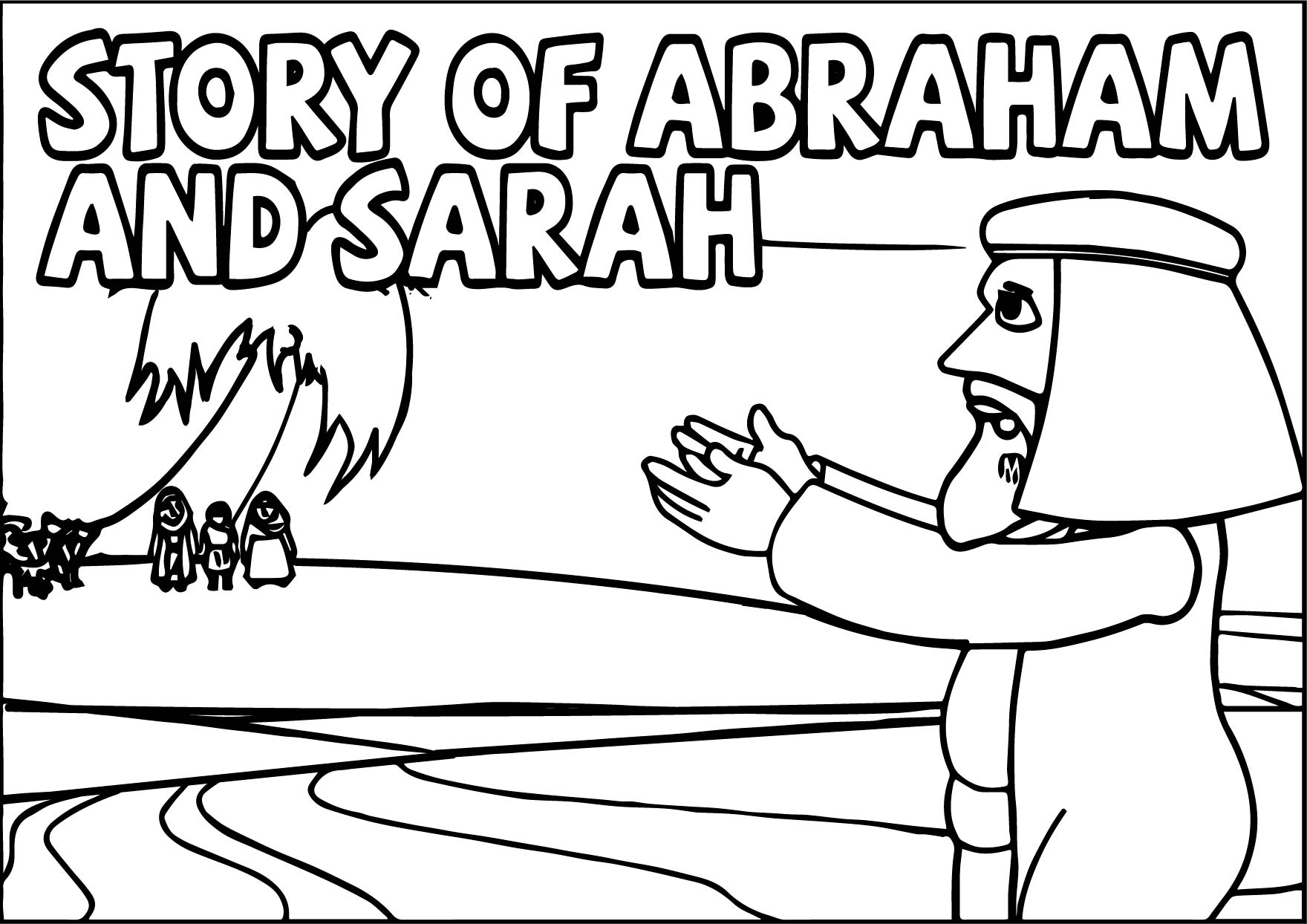 Story Abraham And Sarah Coloring Page