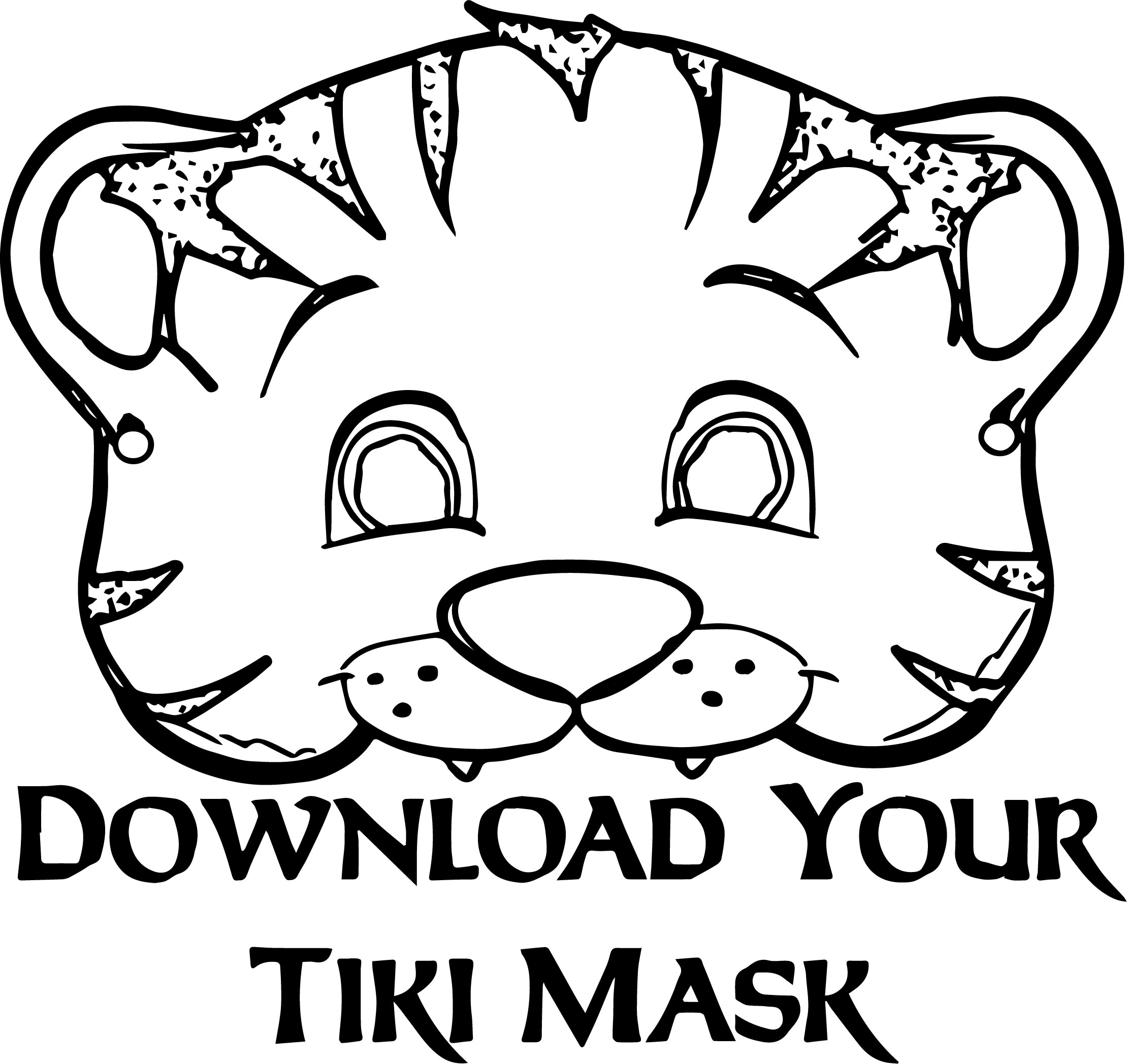Tiger Mask Coloring Page