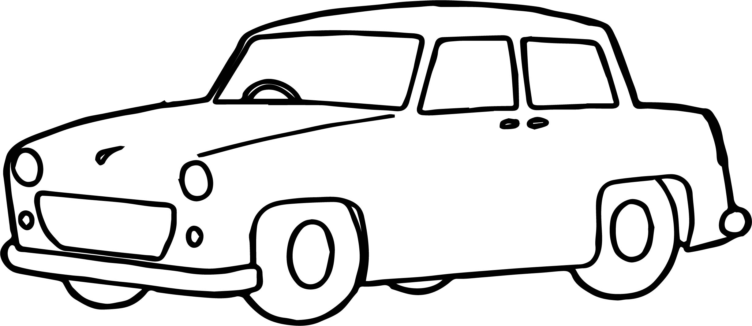 Toy Car Basic Coloring Page Wecoloringpage