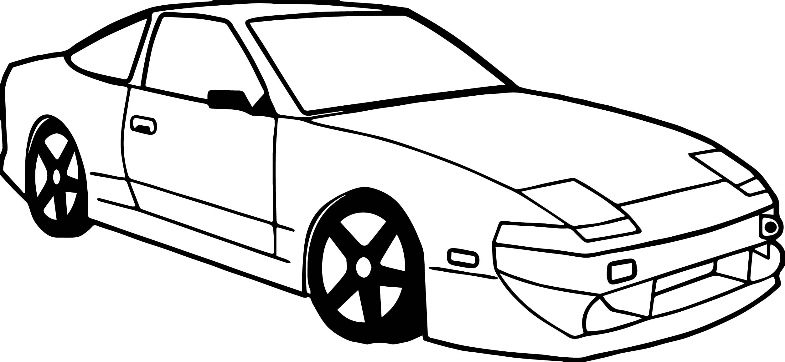 Toy Car Mazda Coloring Page