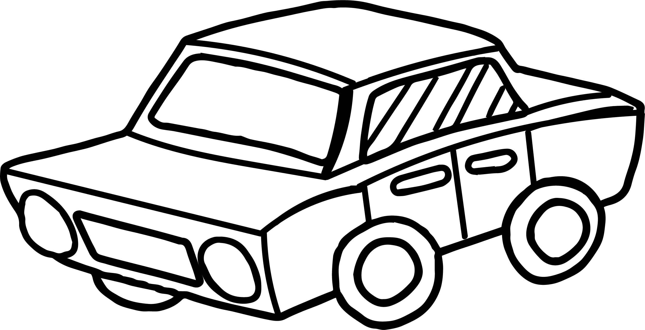 Toy Car Perspective Coloring Page Wecoloringpage