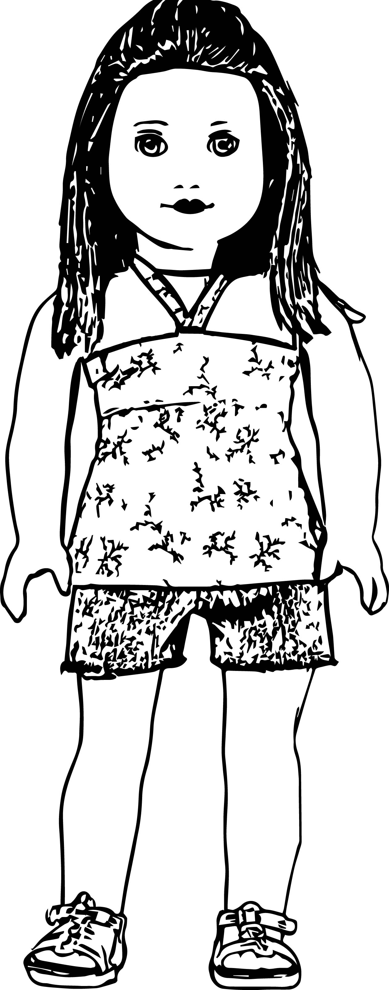 Ag Bandeau Doll Coloring Page