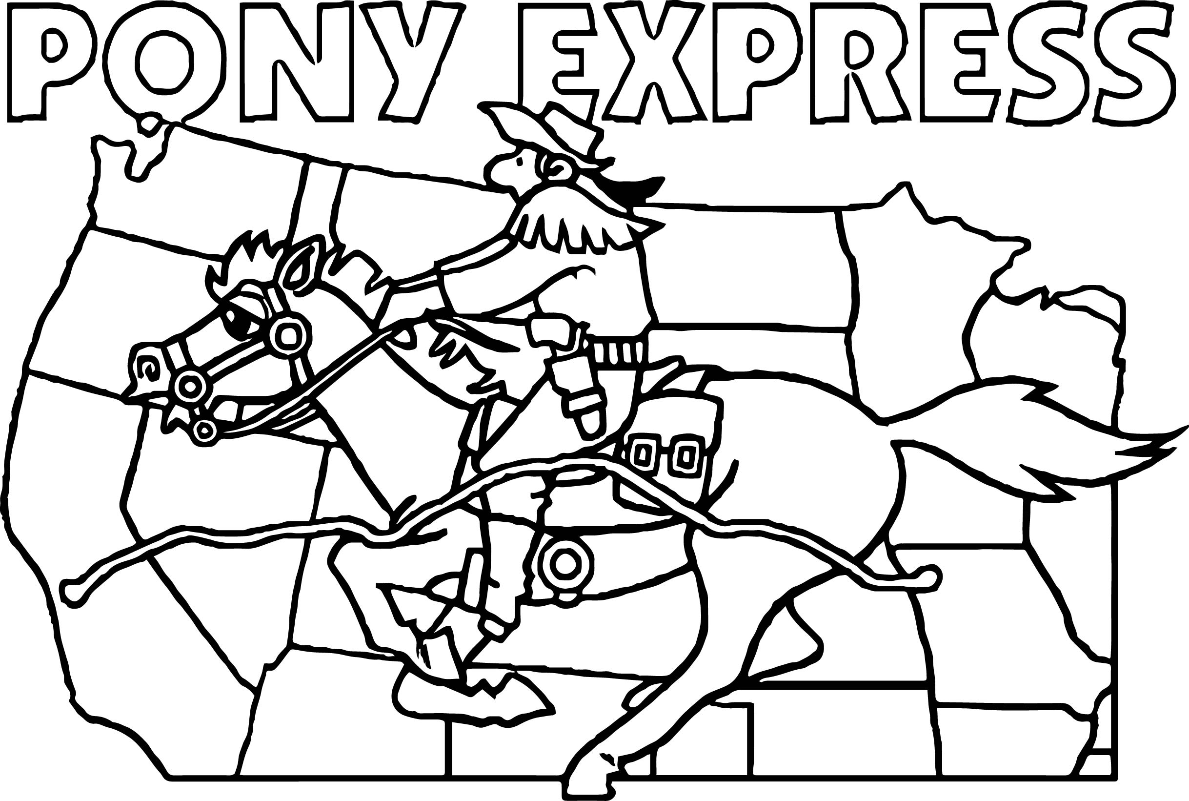 Coloring Pages Pony Express