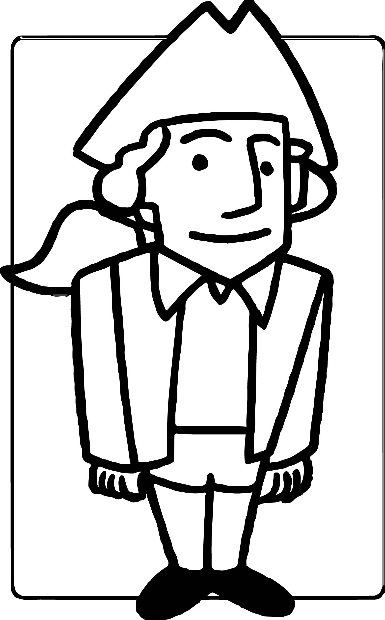 American Revolution Man Coloring Page