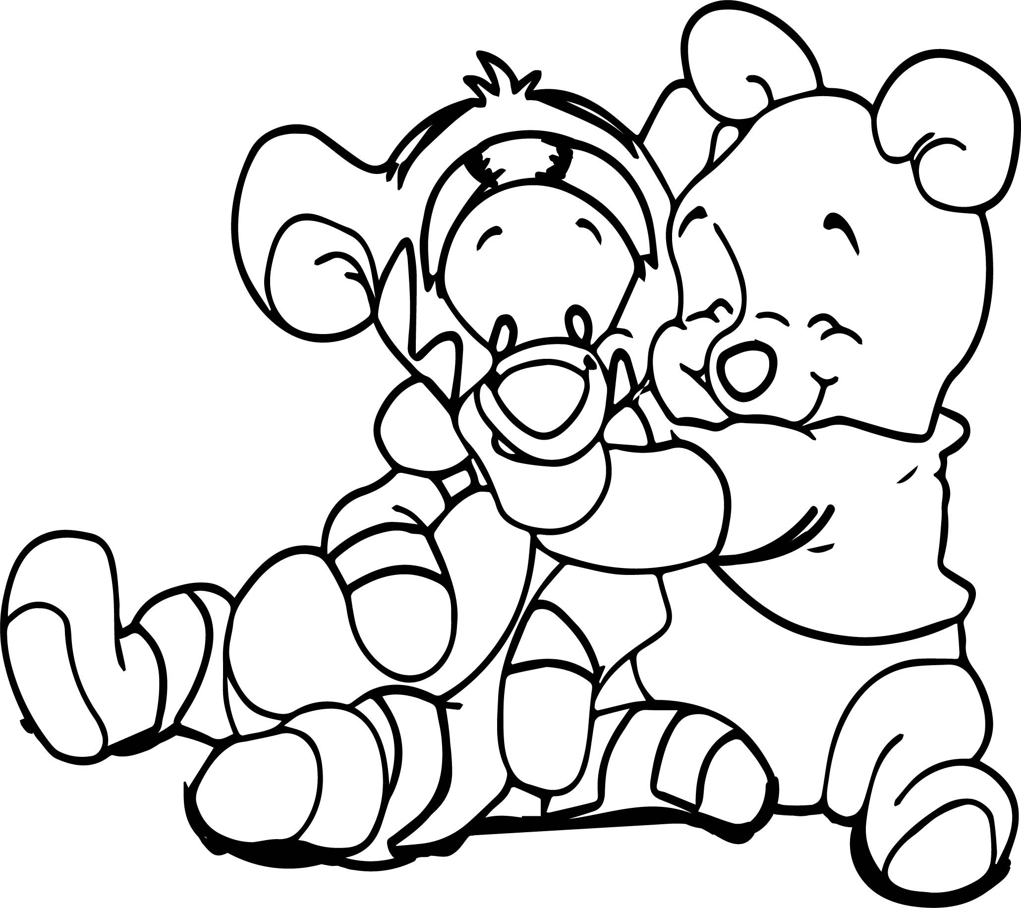 Baby Pooh And Piglet Coloring Pages Get Sketch Coloring Page