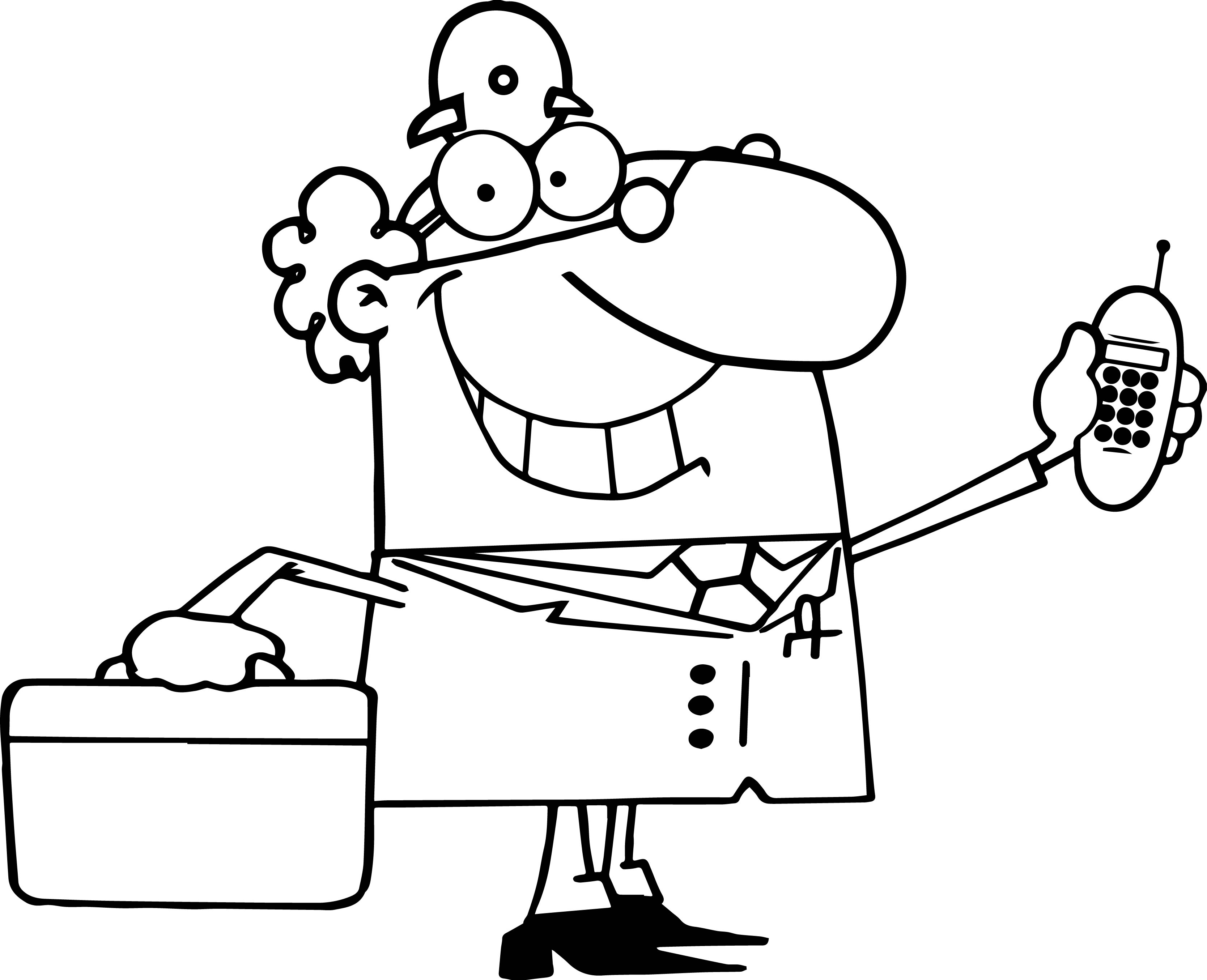 Doctor Call Phone Coloring Page