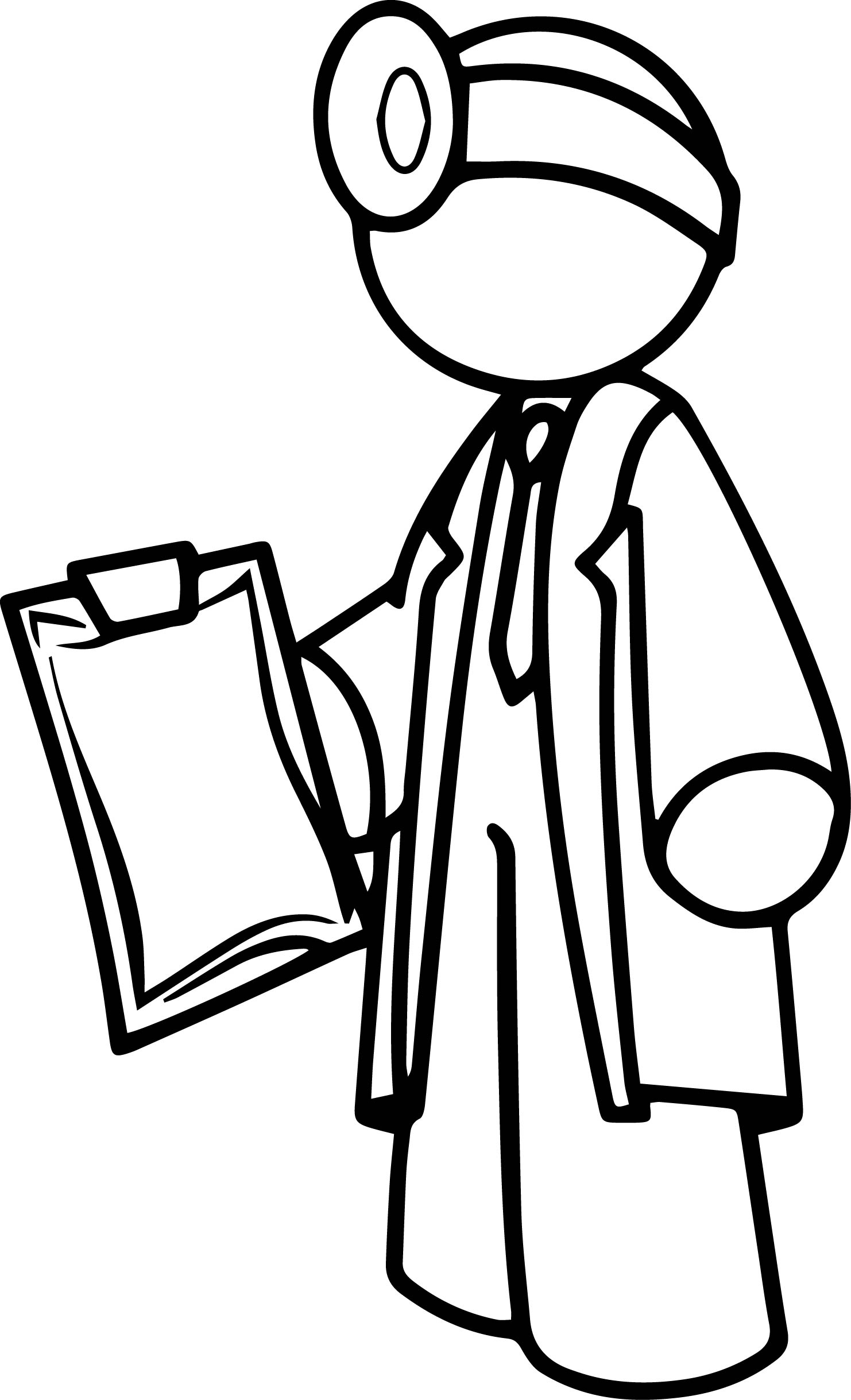 Doctor Figure Coloring Page