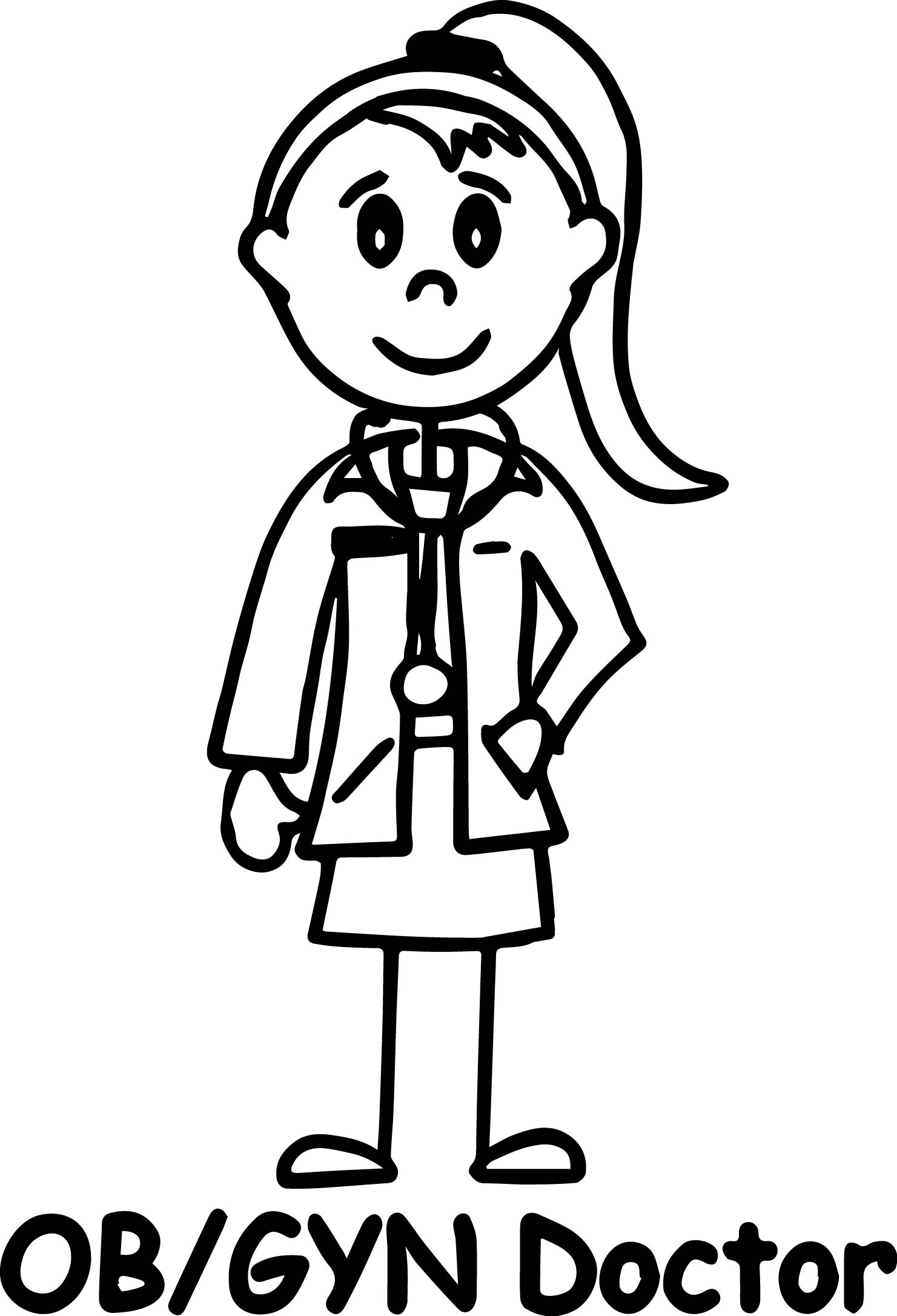 Doctor Girl Coloring Page Ob Gyn Doctor