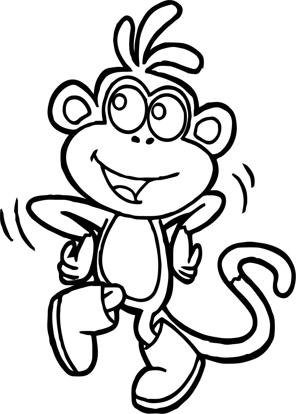 Dora Monkey Coloring Page