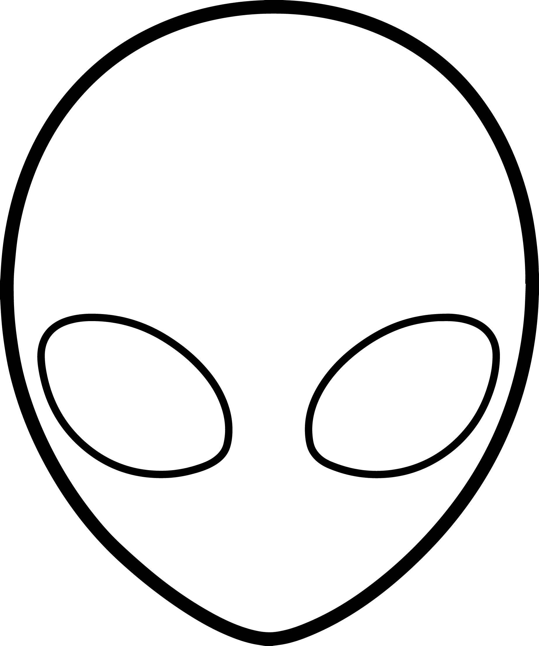 Empty Face Alien Coloring Page