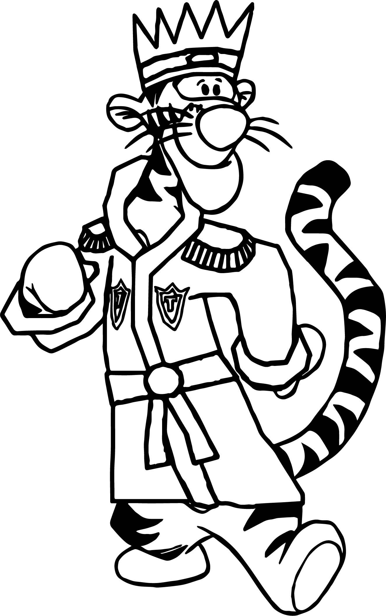 King Tigger Coloring Page