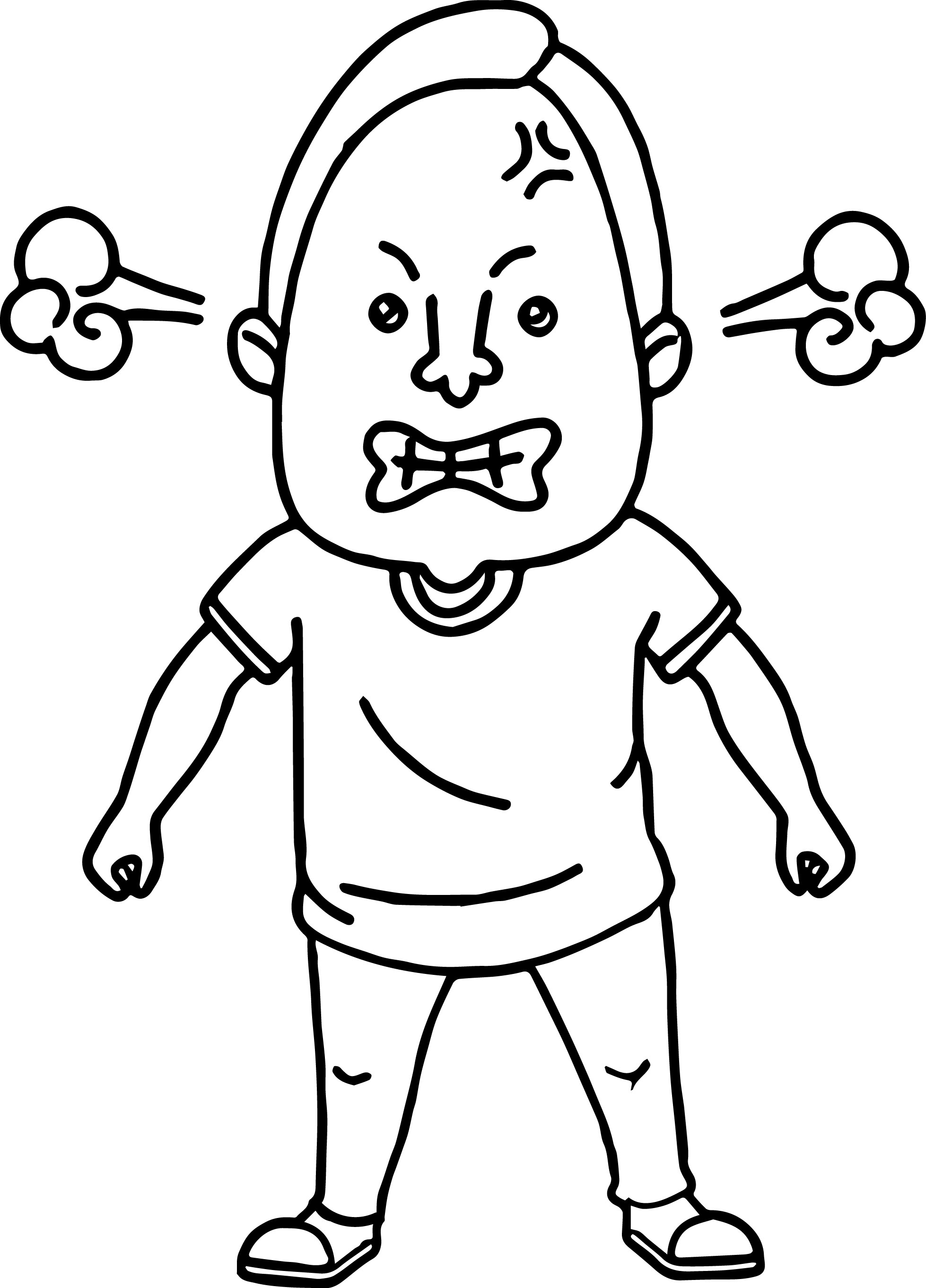 Man Angry Coloring Page
