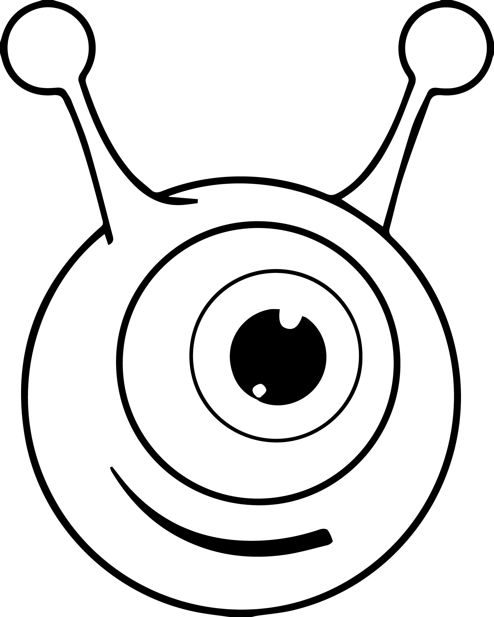 Eyeball Coloring Pages