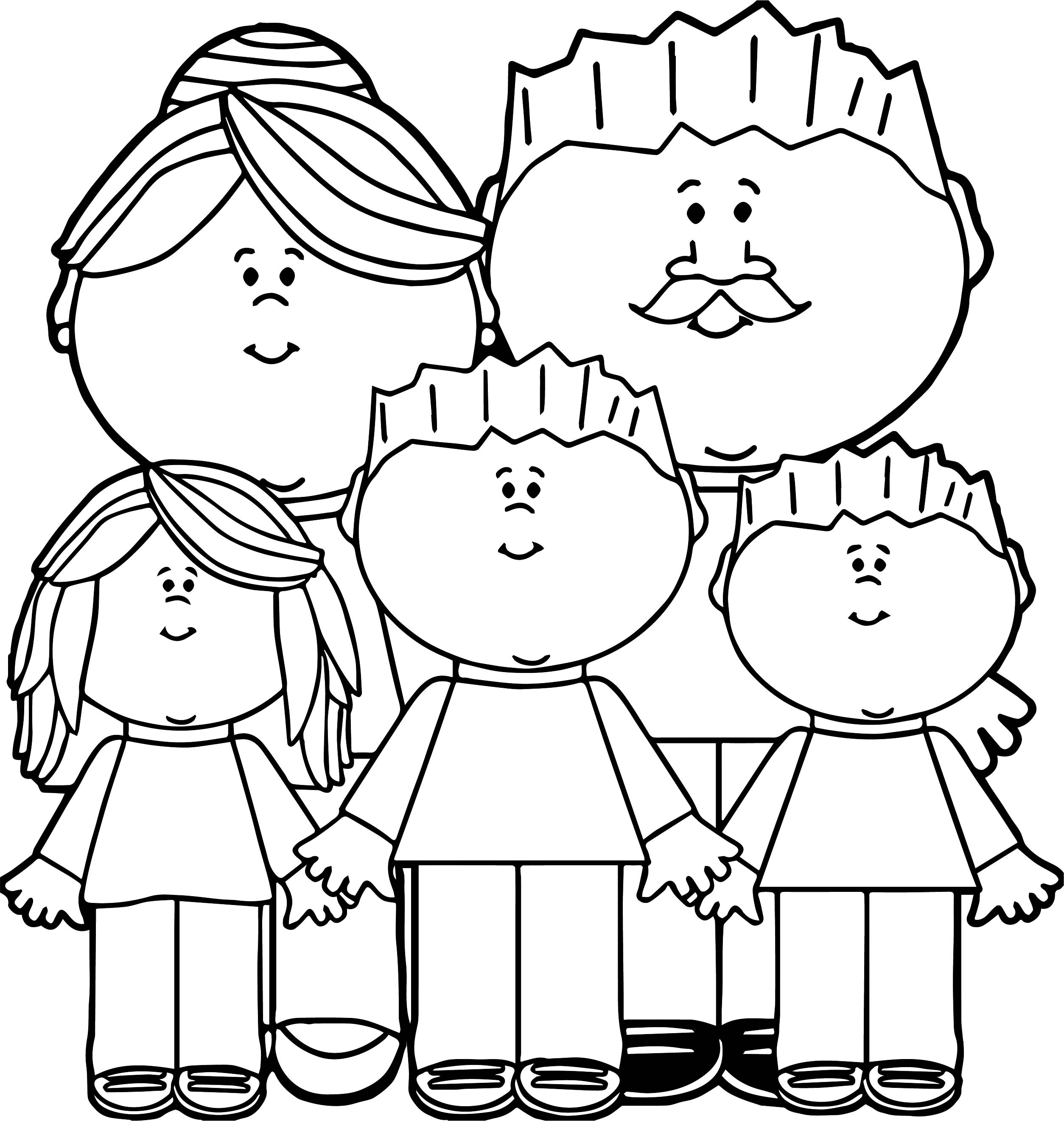 Parents And Kids Family Coloring Page