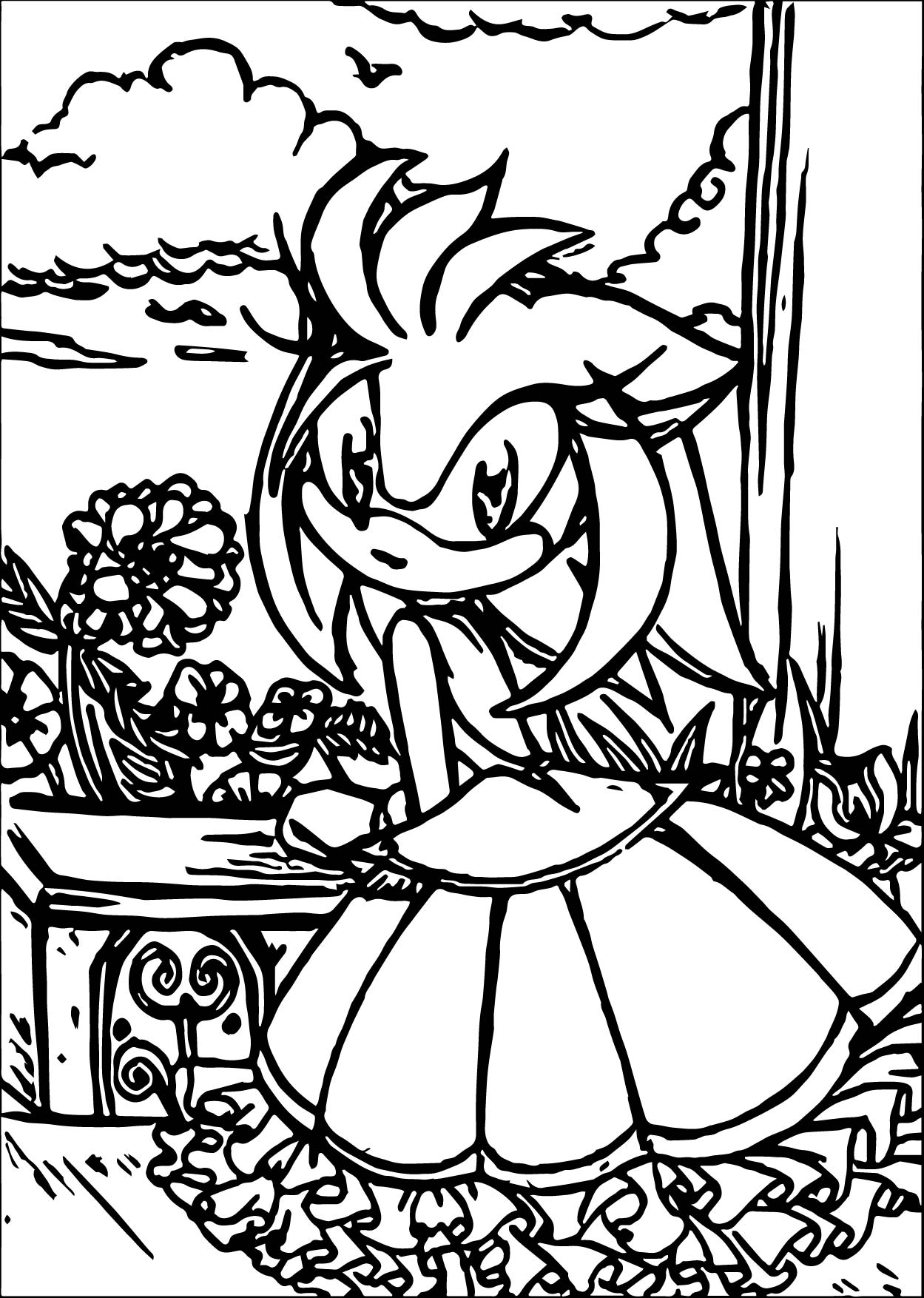 Princess Amy Rose Coloring Pages Wecoloringpage