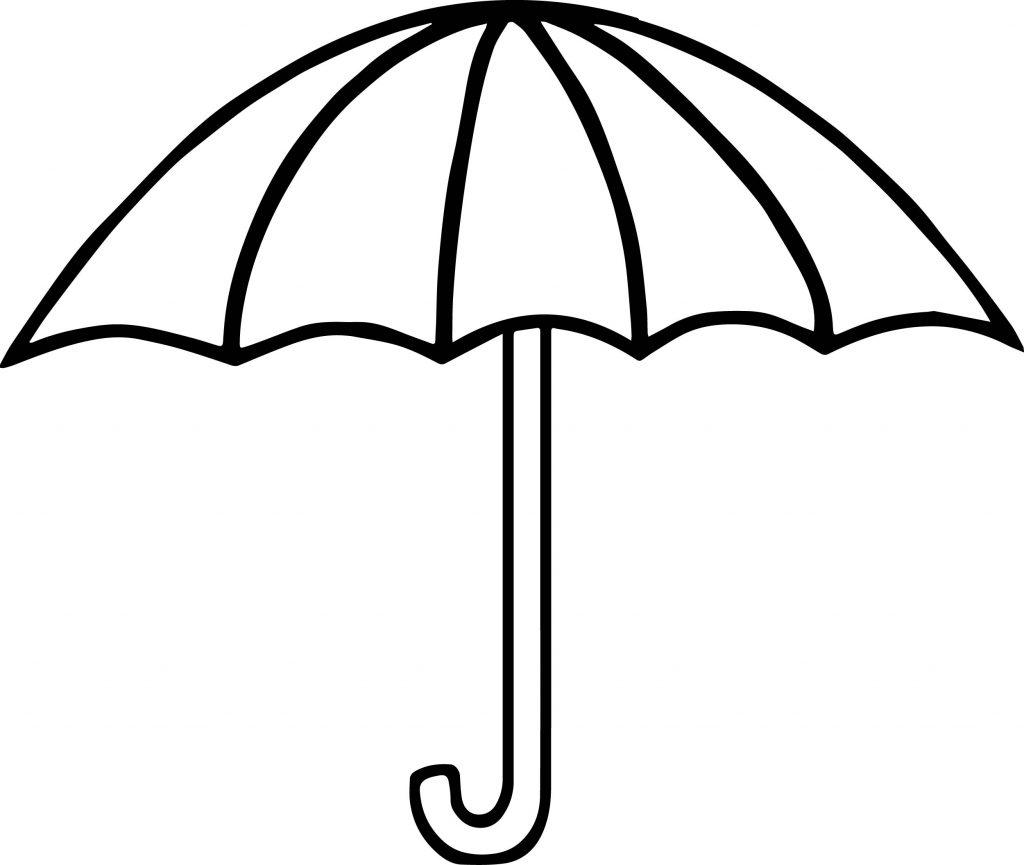 Summer Umbrella Coloring Page