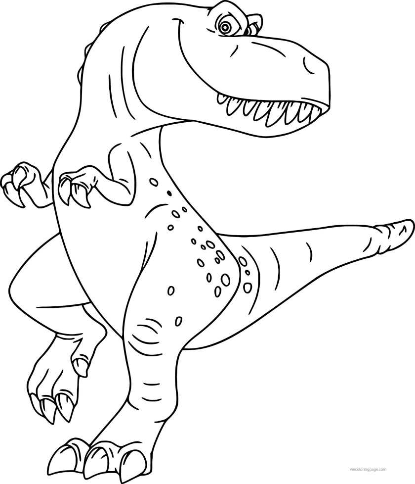 the good dinosaur disney ramsey cartoon coloring pages