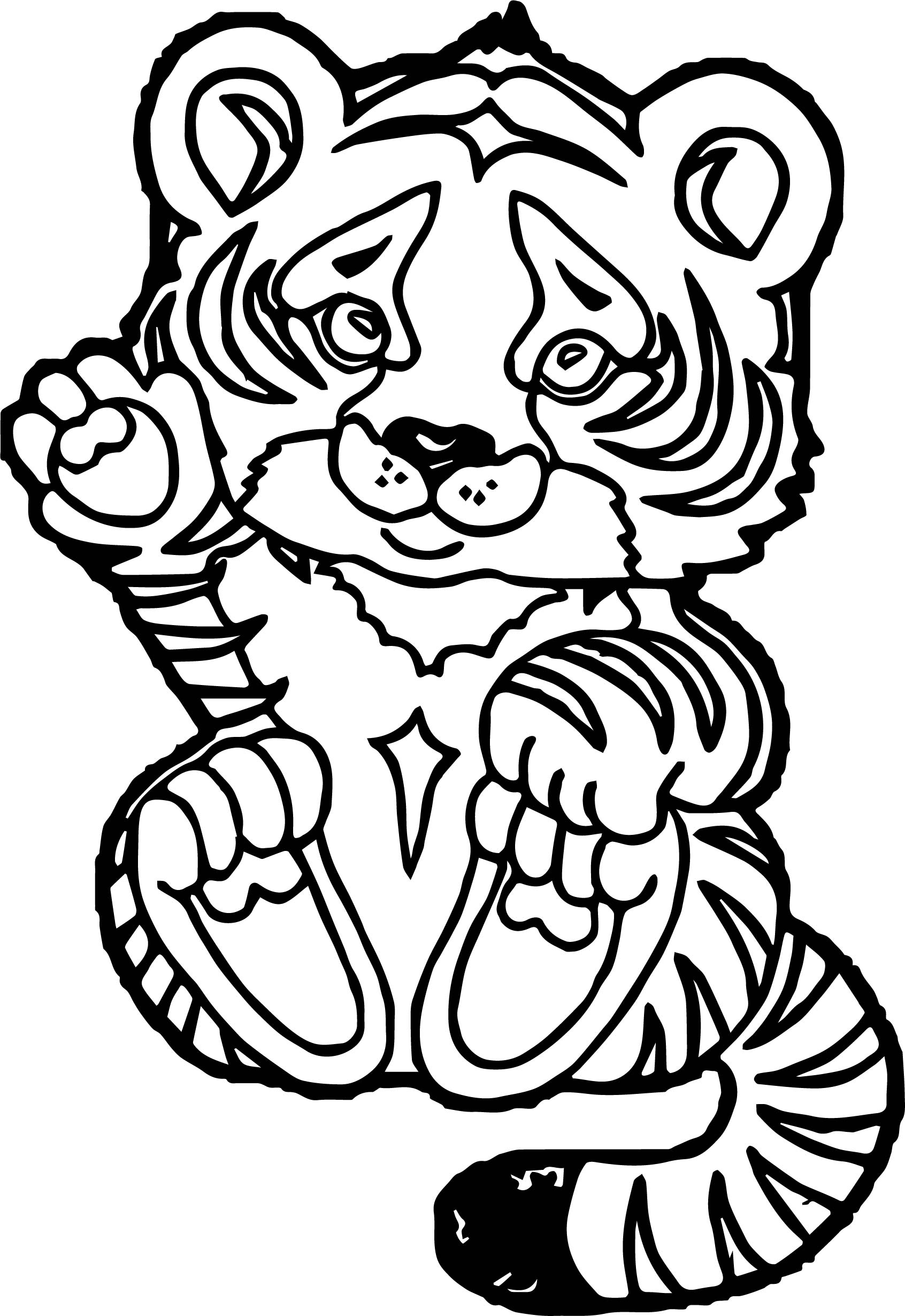 Tiger Baby Coloring Page