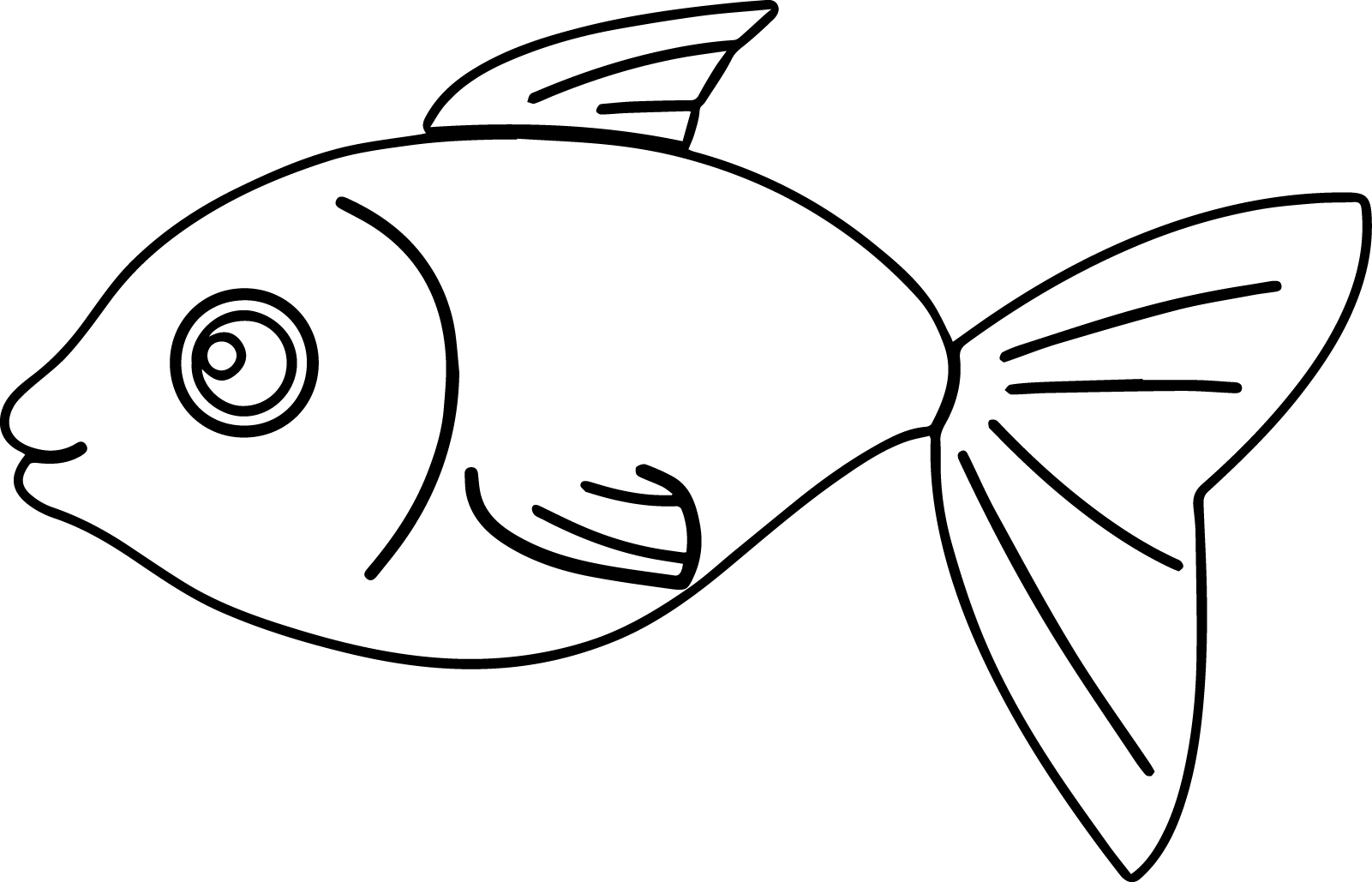 Colouring Worksheet Of Fish