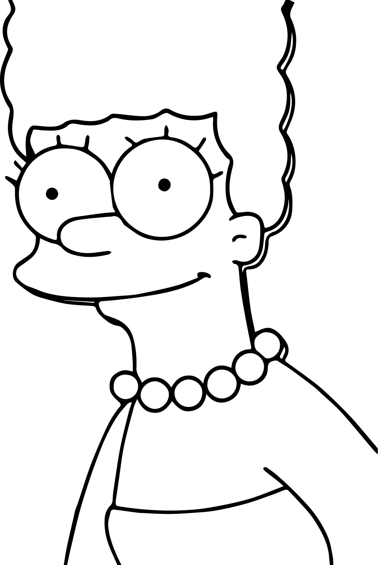 Marge Simpson Coloring Pages Characters