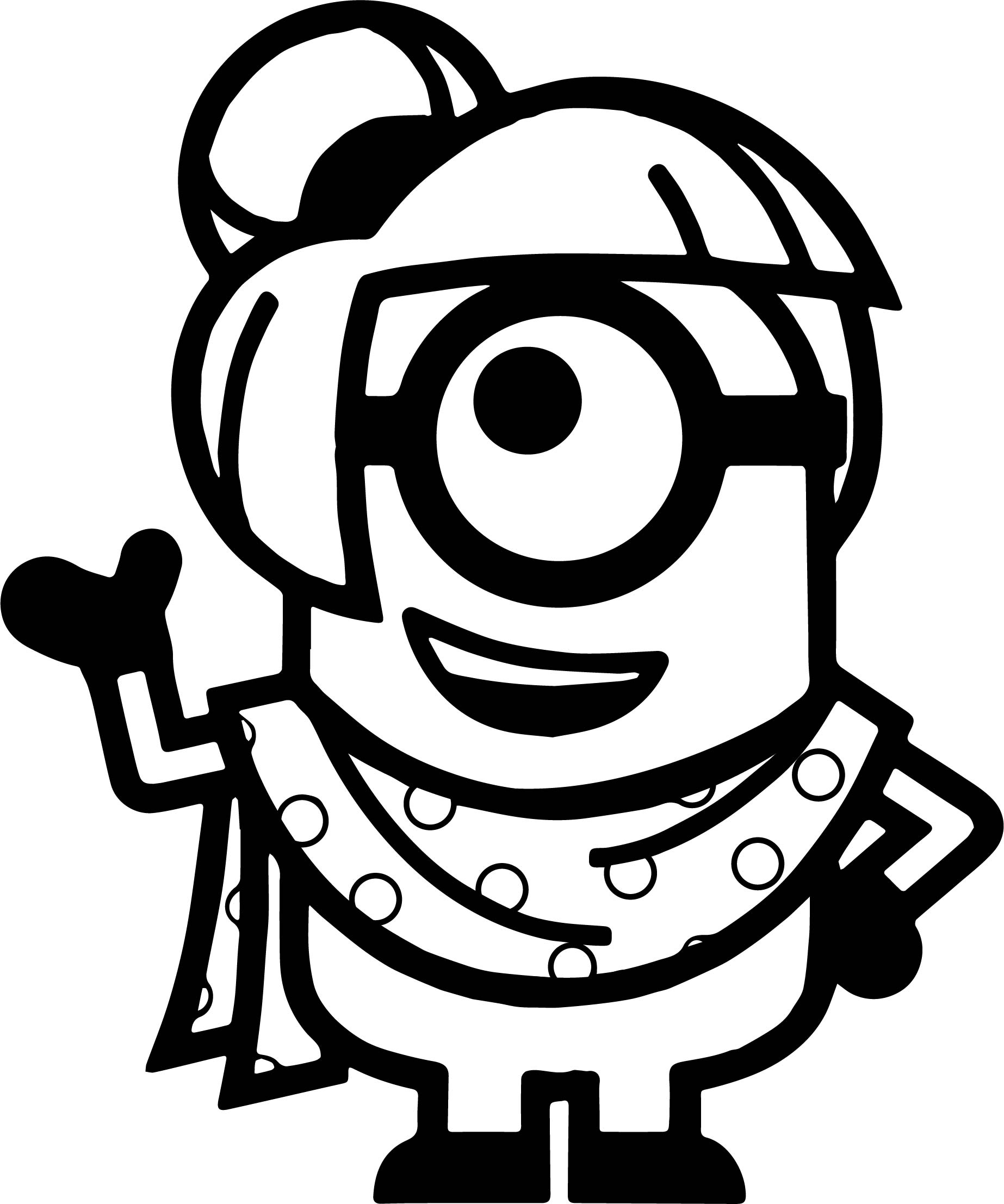 All Girl Minion Coloring Page