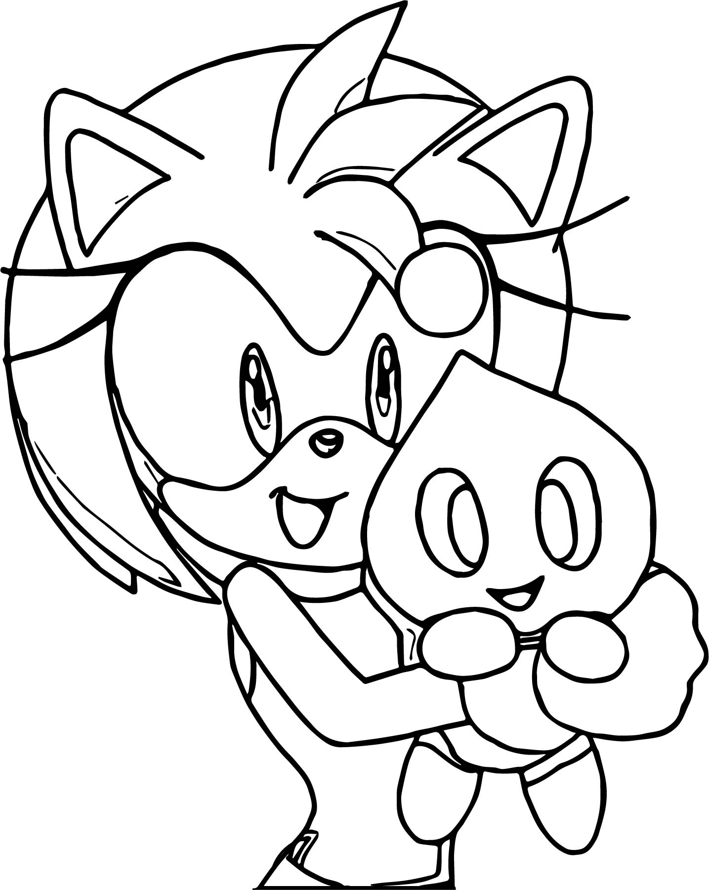 Amy Rose And Funny Friends Coloring Page