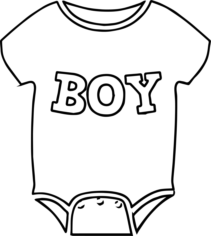 Baby Boy Shirt Coloring Page Wecoloringpage