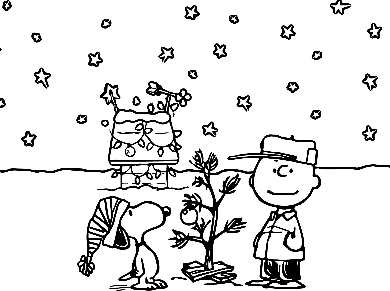 Holidays Charlie Brown Peanuts Ics Snoopy Christmas Coloring