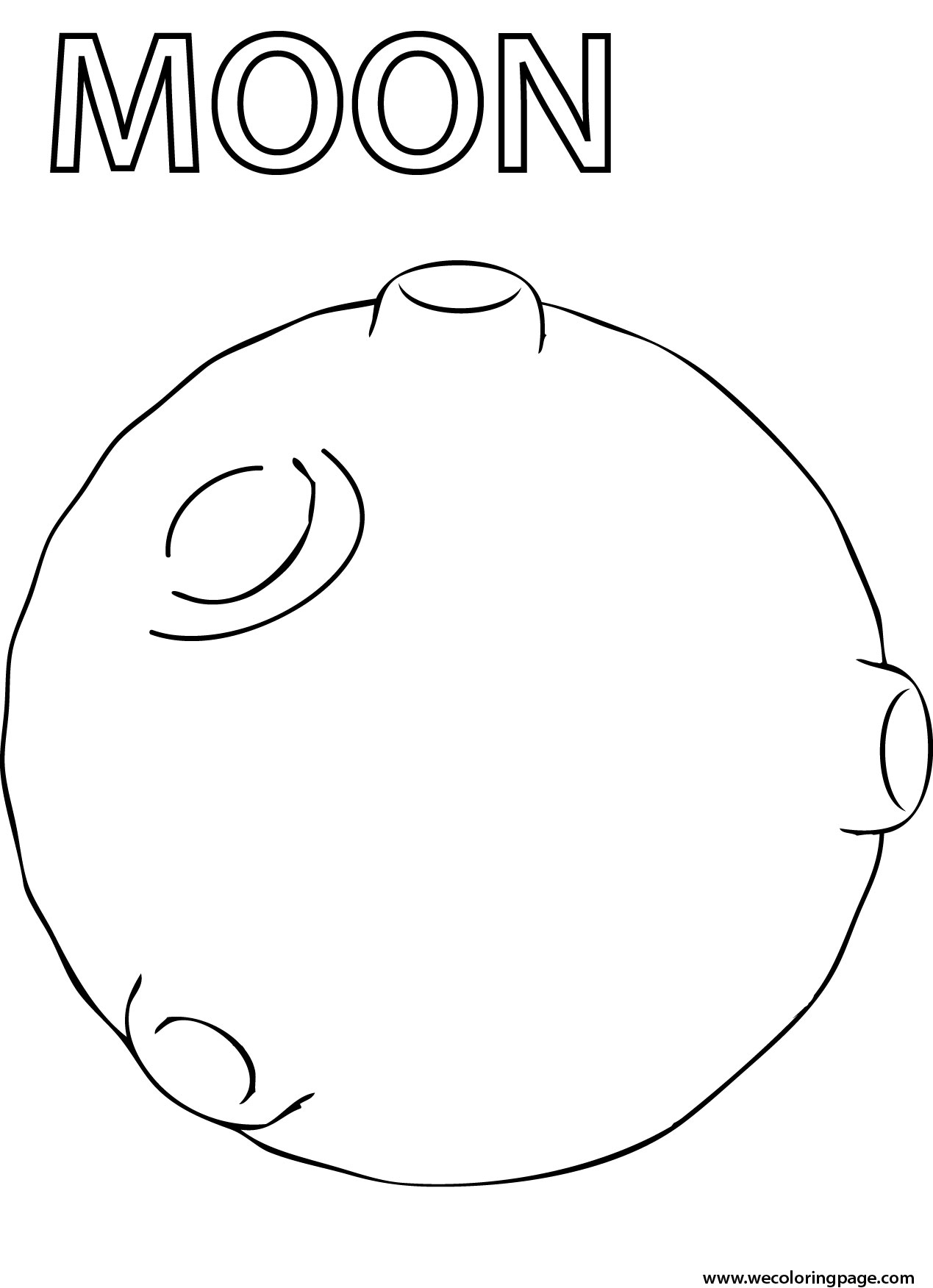 Moon Coloring Pages