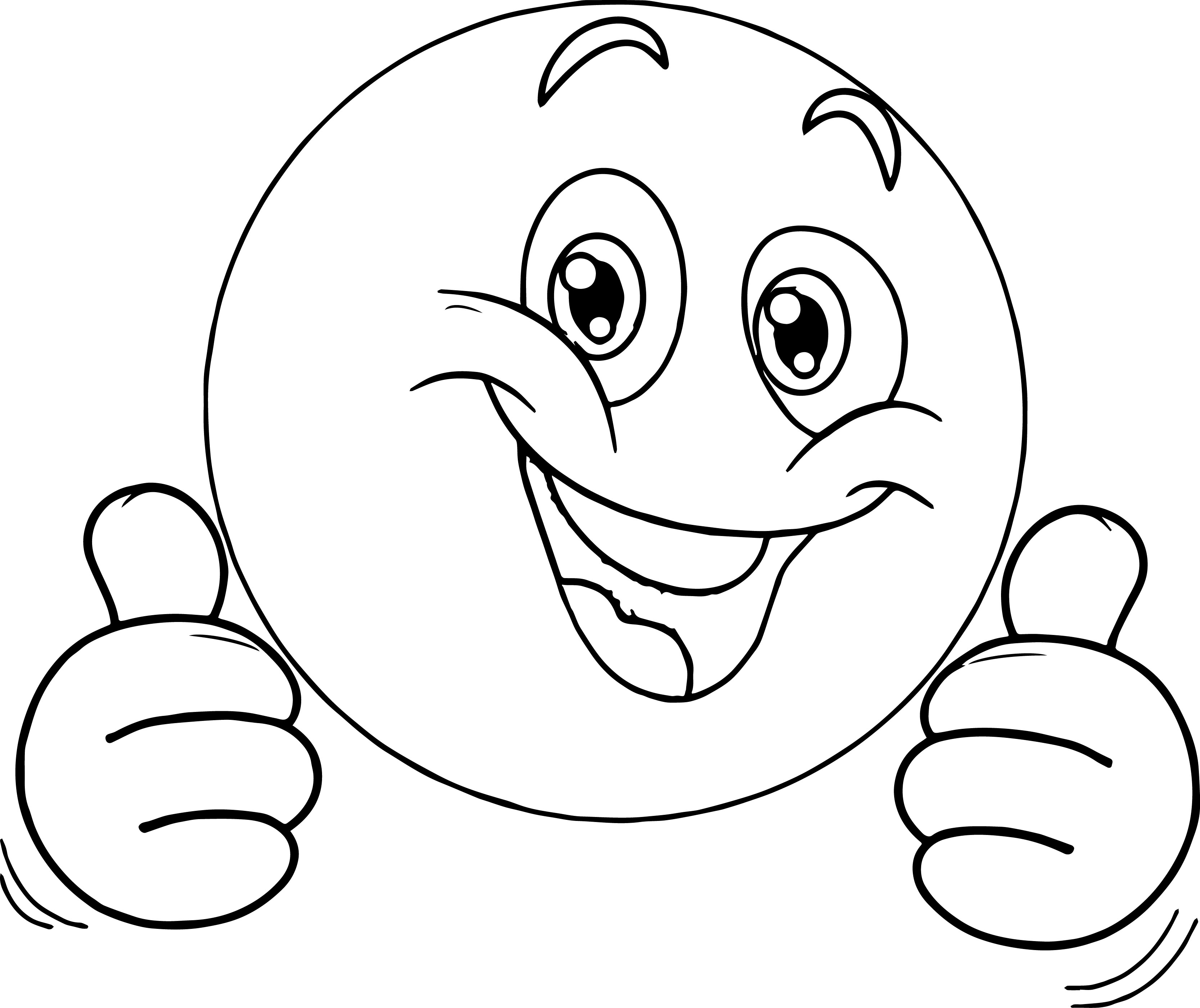 Very Happy Emoticon Face Coloring Page