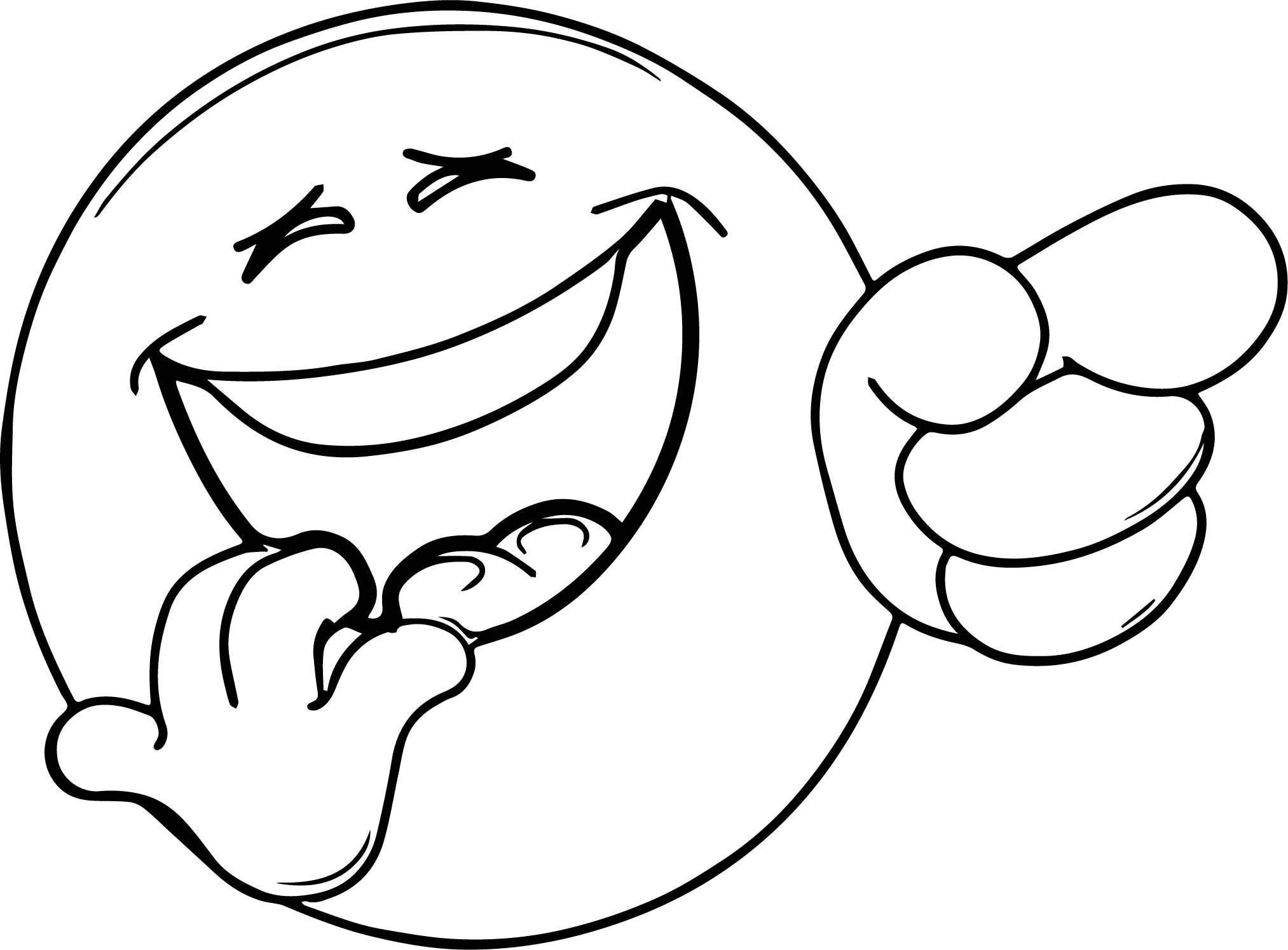 Very Laugh Face Emoticon Coloring Page