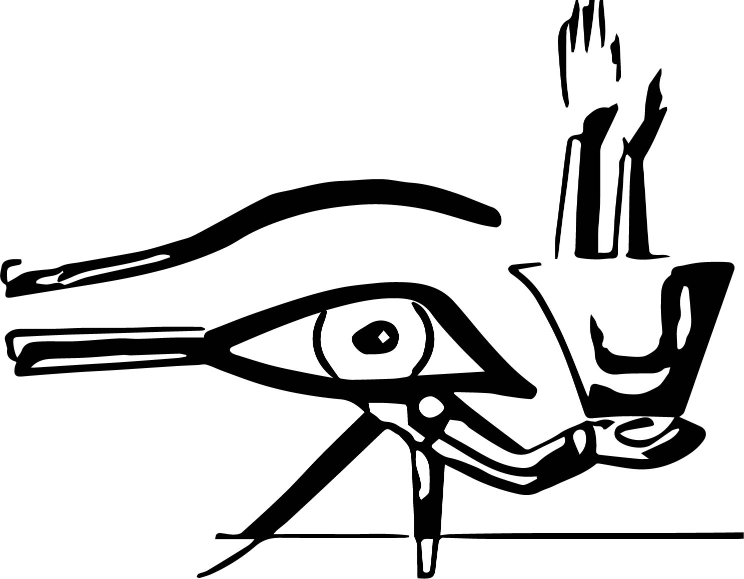 Egyptian Eye Of Ra Tattoo Designs Sketch Coloring Page