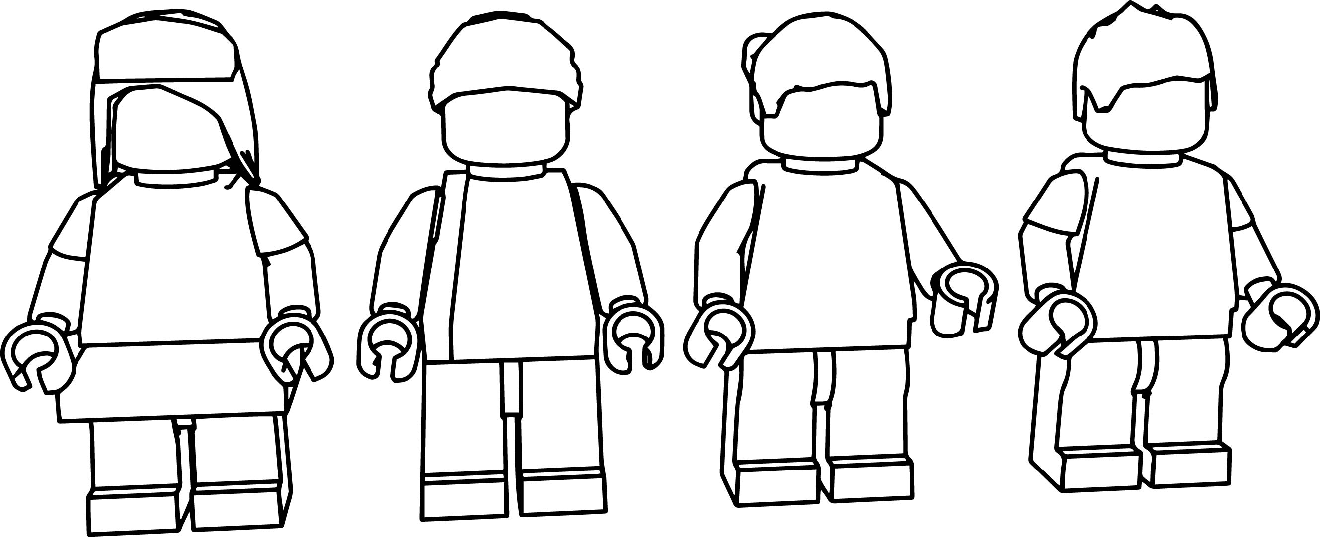 Lego People Coloring Page