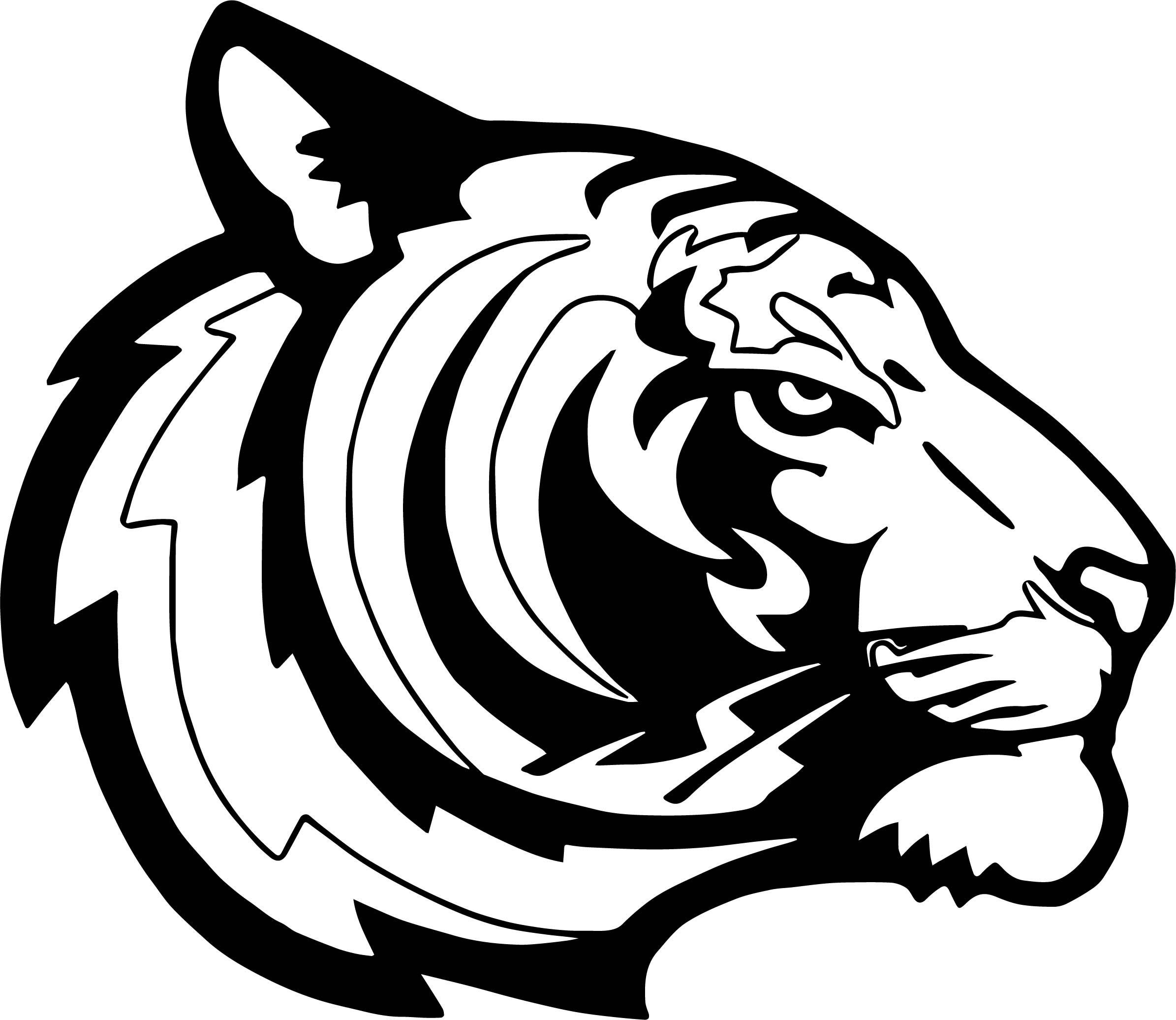 Side Tiger Face Coloring Page