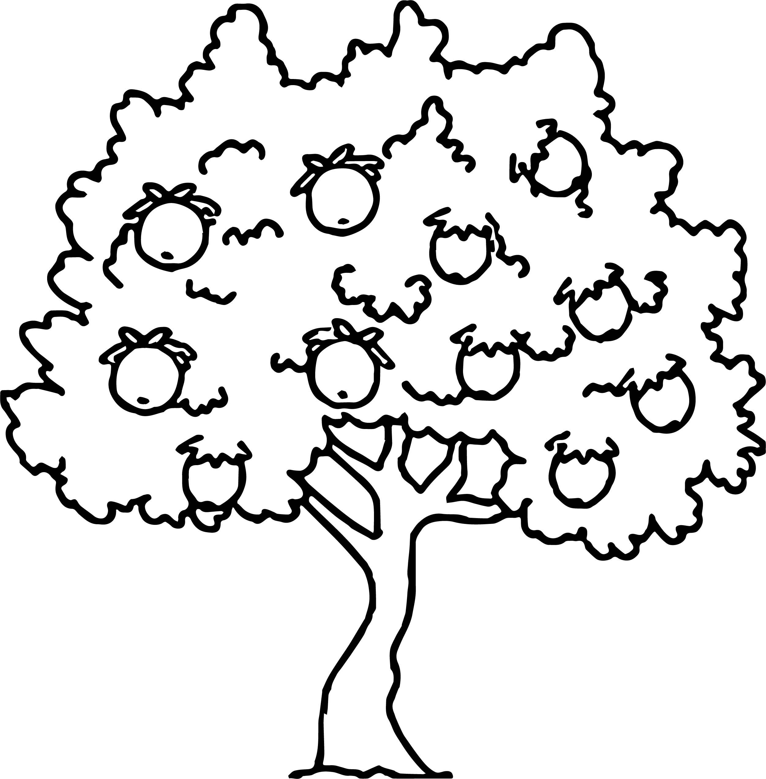 Too Much Apple Tree Coloring Page