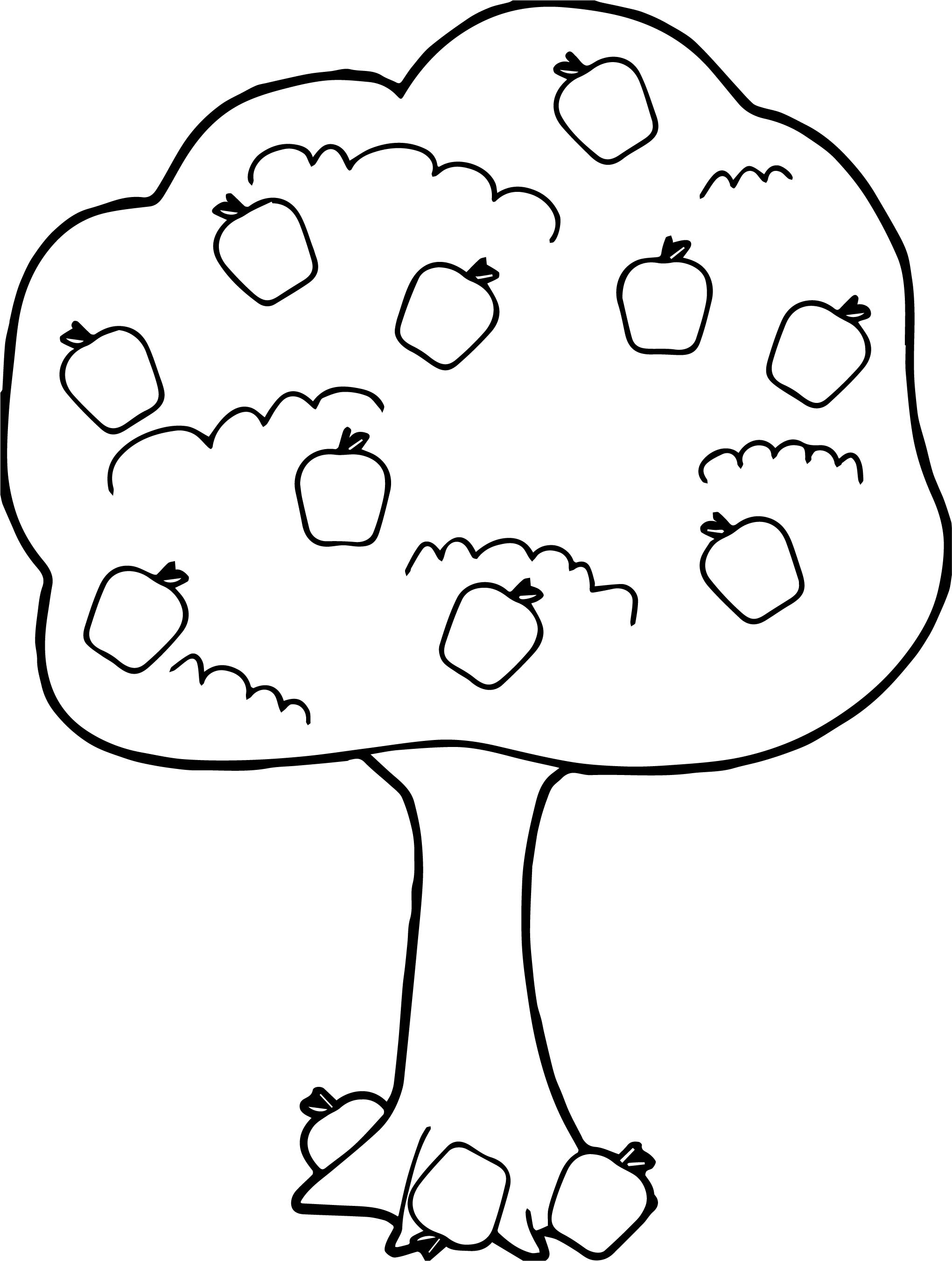 Apple Tree Coloring Pages