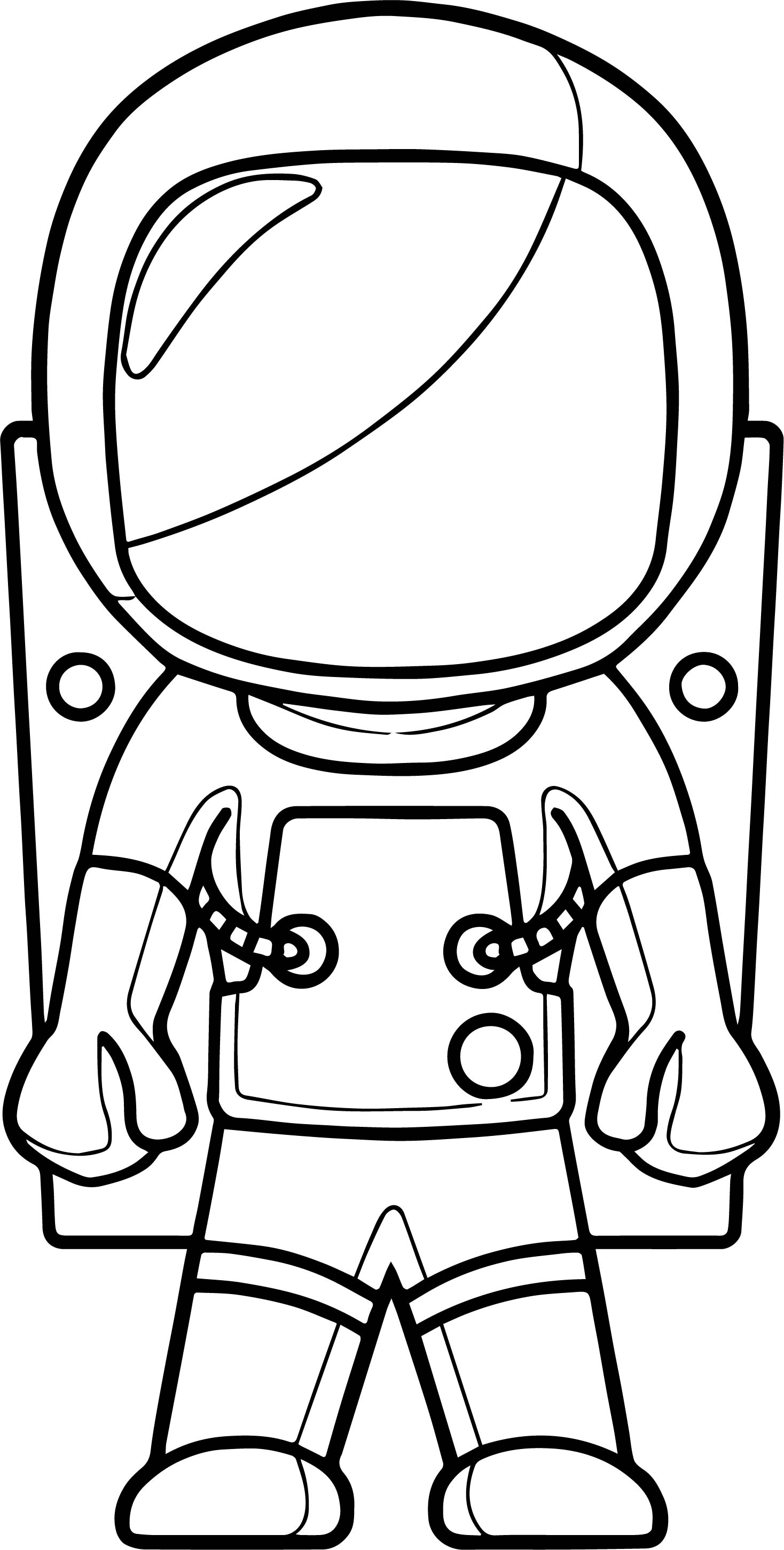 Astronaut Front View Coloring Page
