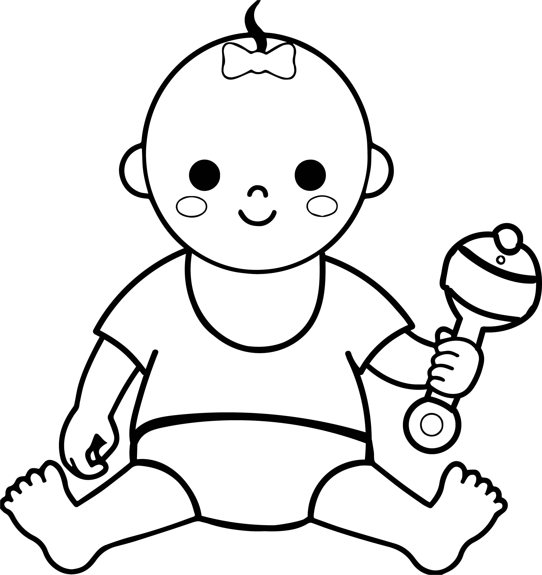 Baby Girl Border Coloring Page