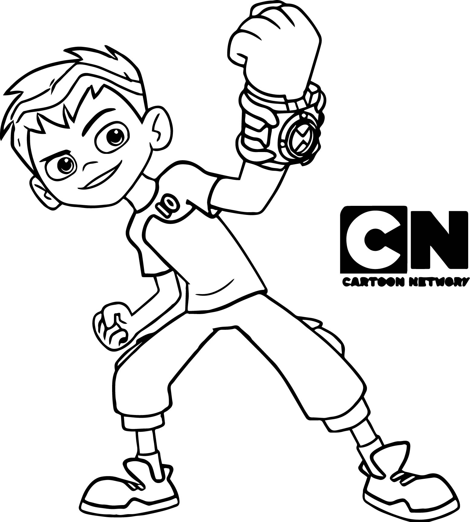 Ben 10 Power Coloring Page