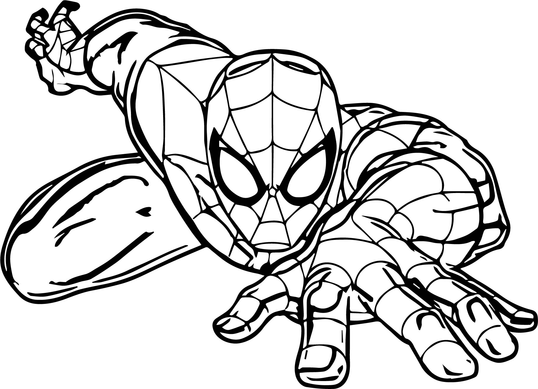 Cartoon Spider Spider Man Coloring Page