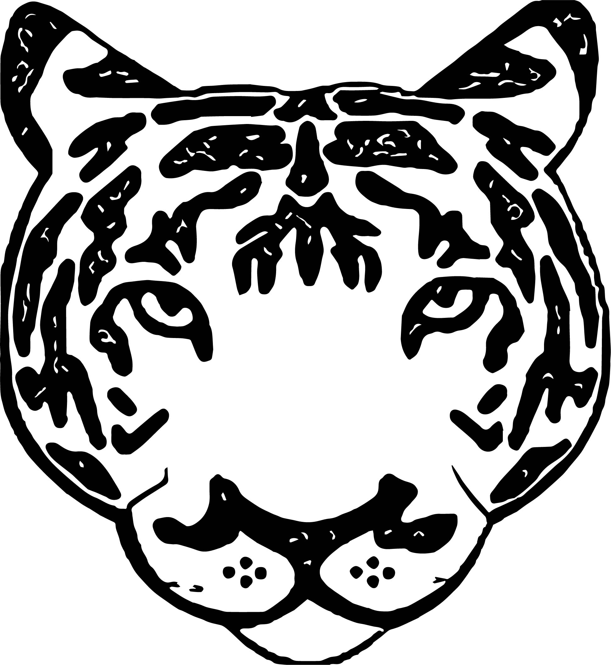 Face Tiger Coloring Page