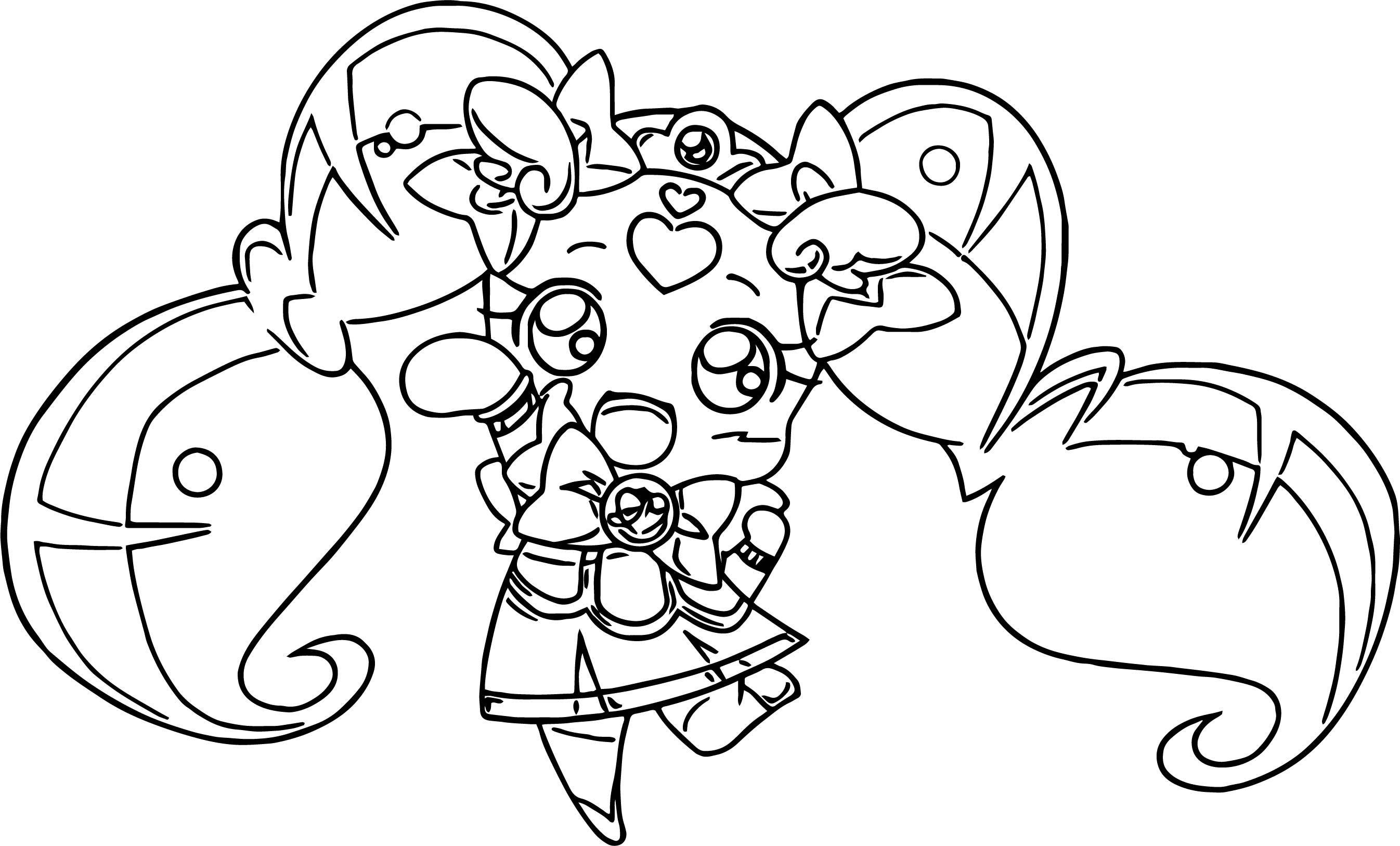 Glitter Force Toy Girl Coloring Page Wecoloringpage