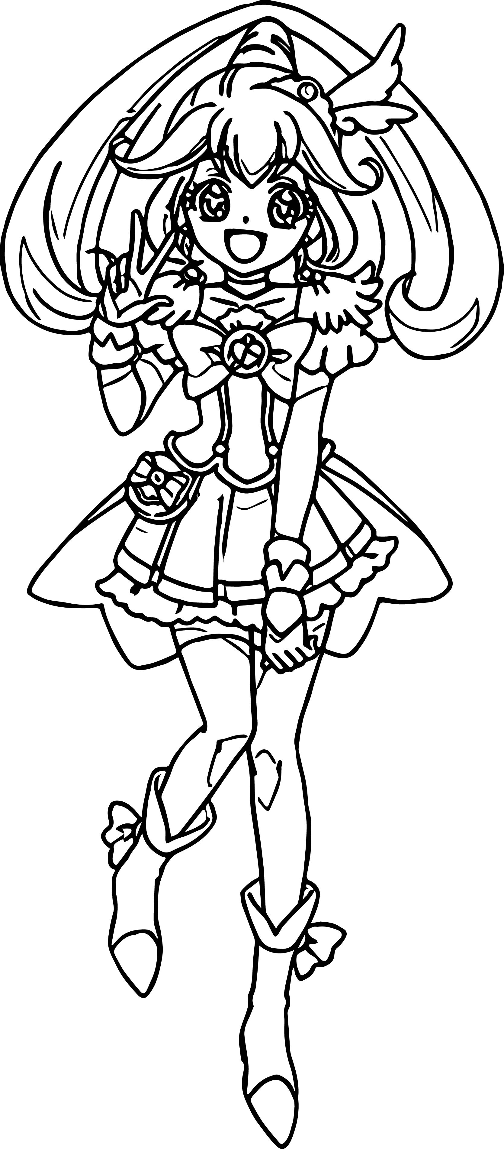 Happy Glitter Force Coloring Page Wecoloringpage