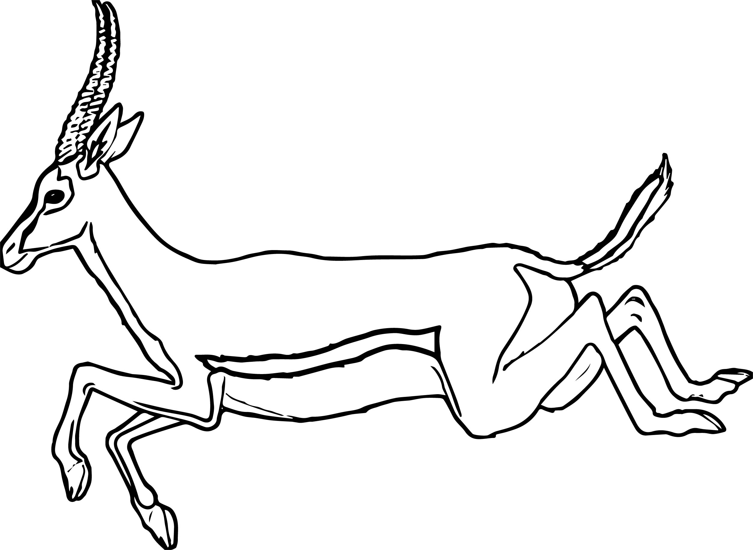 Leaping Antelope Coloring Page